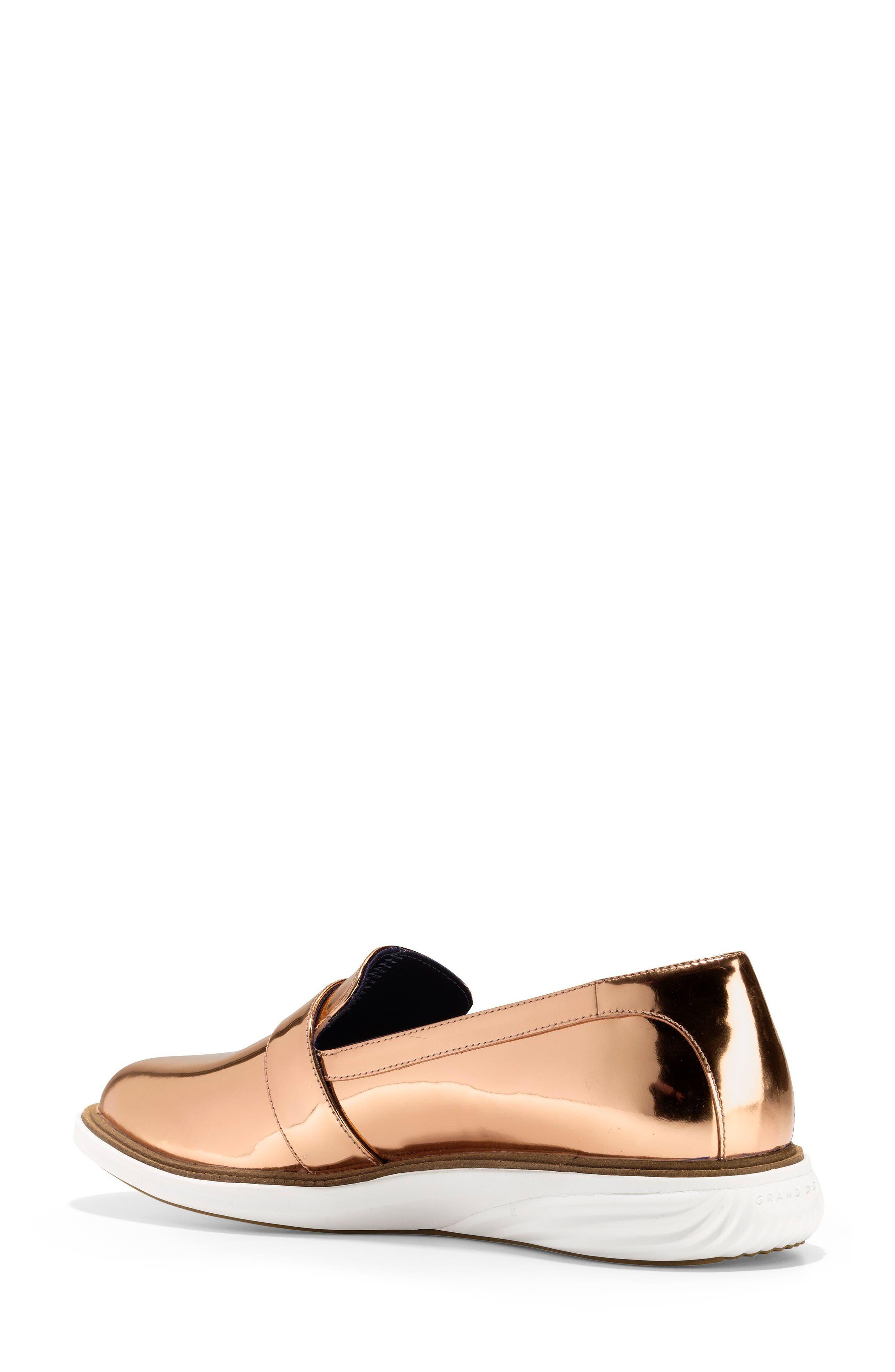 GrandEvolution Sneaker,                             Alternate thumbnail 2, color,                             Rose Gold Leather