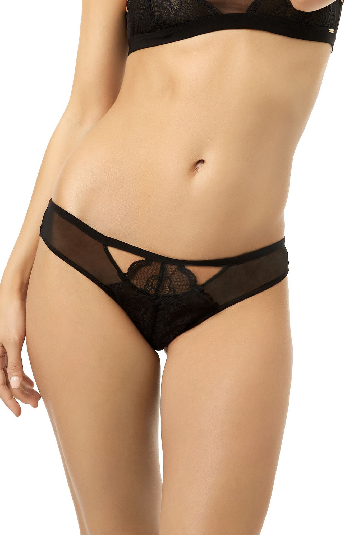 Astrid Cutout Panties,                             Main thumbnail 1, color,                             Black