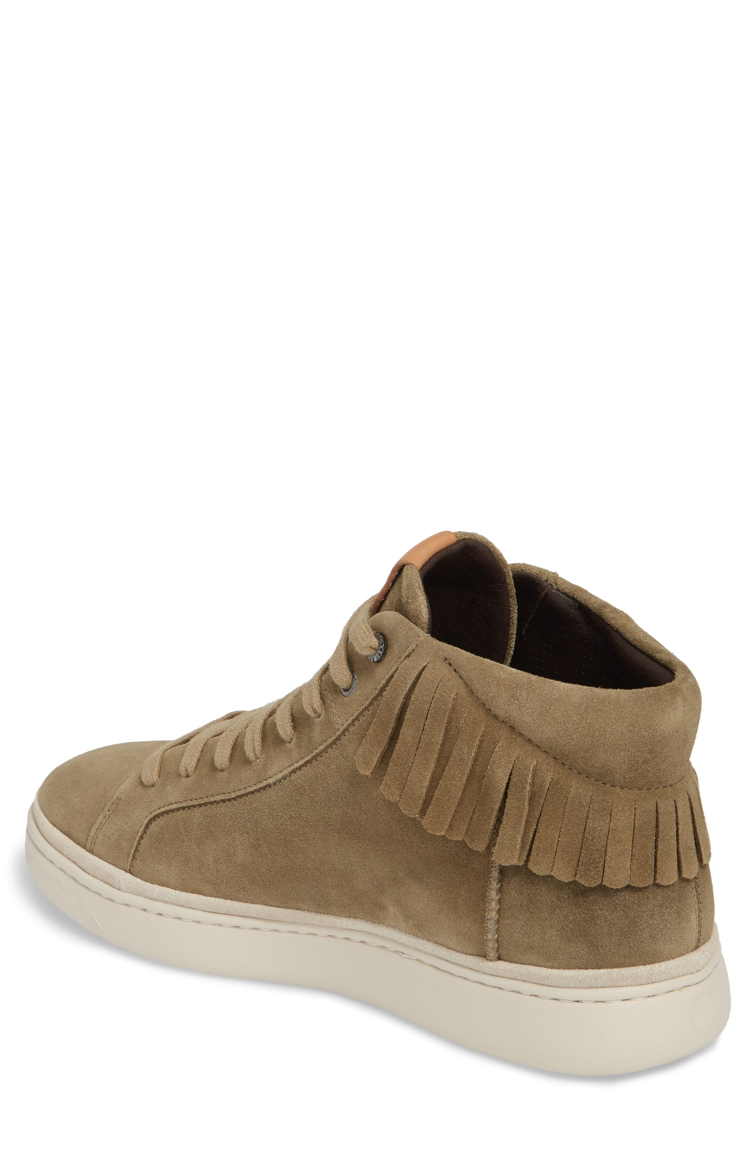 Alternate Image 2  - UGG® Brecken Fringe High-Top Sneaker (Men)