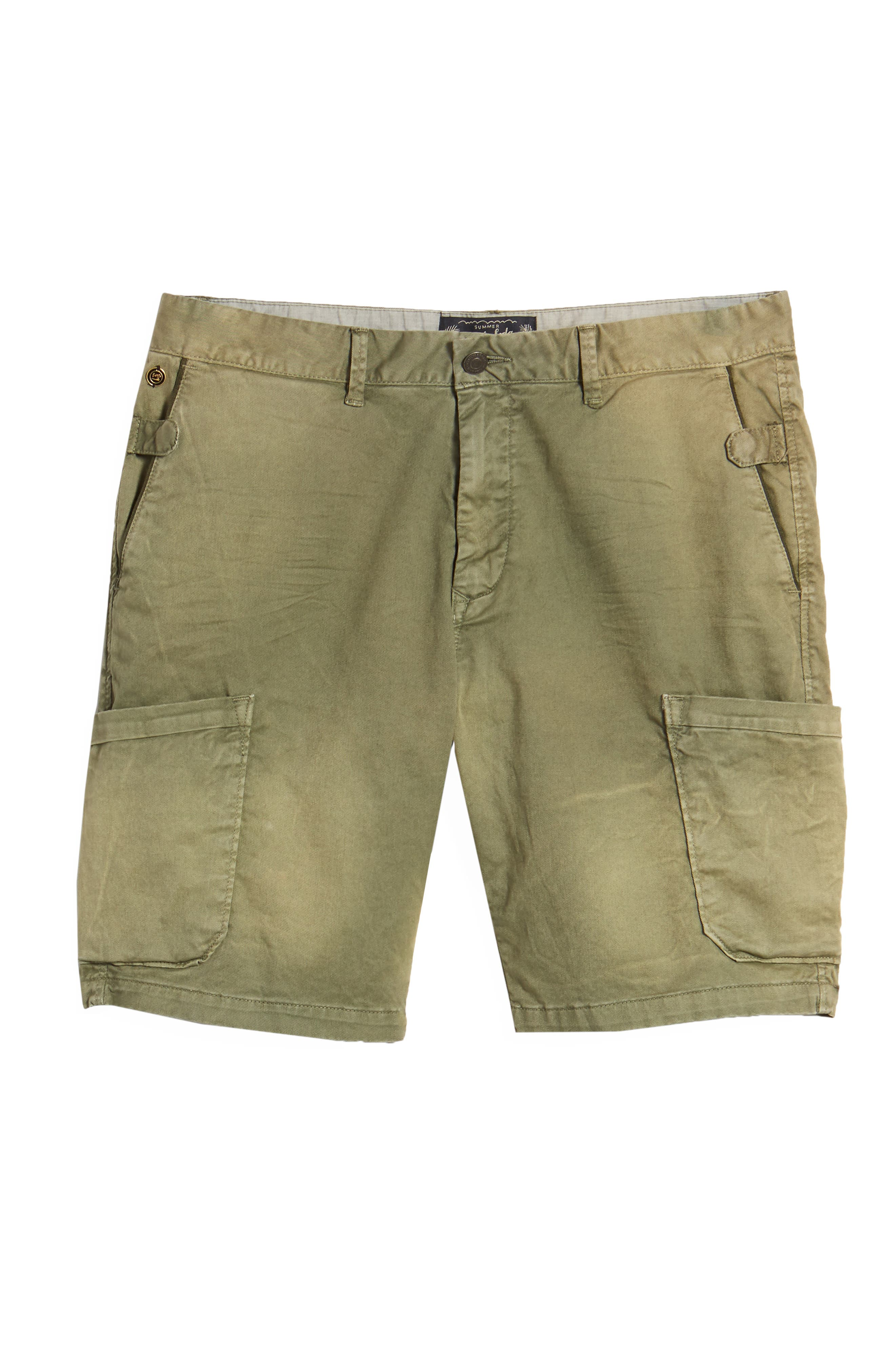 Washed Cargo Shorts,                             Alternate thumbnail 6, color,                             Army