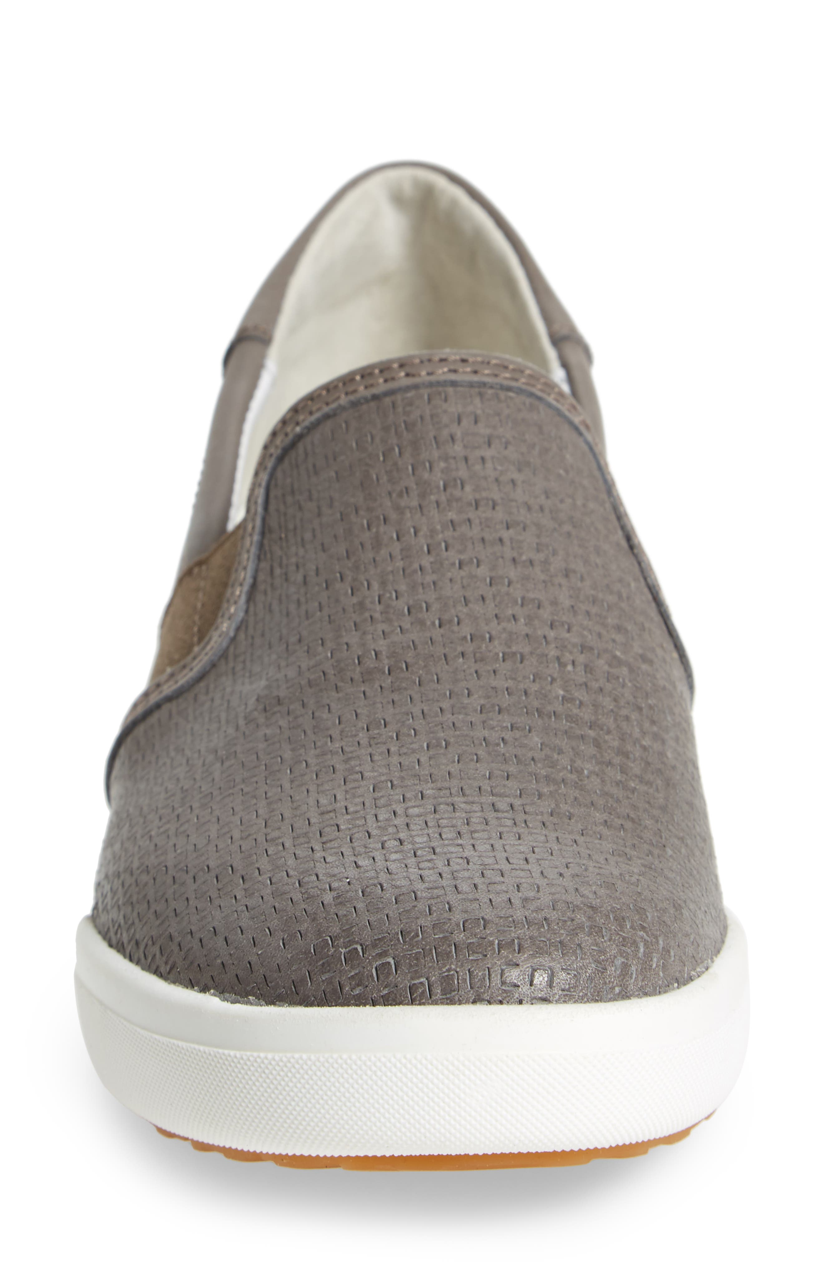 Sina 39 Sneaker,                             Alternate thumbnail 4, color,                             Grey Leather