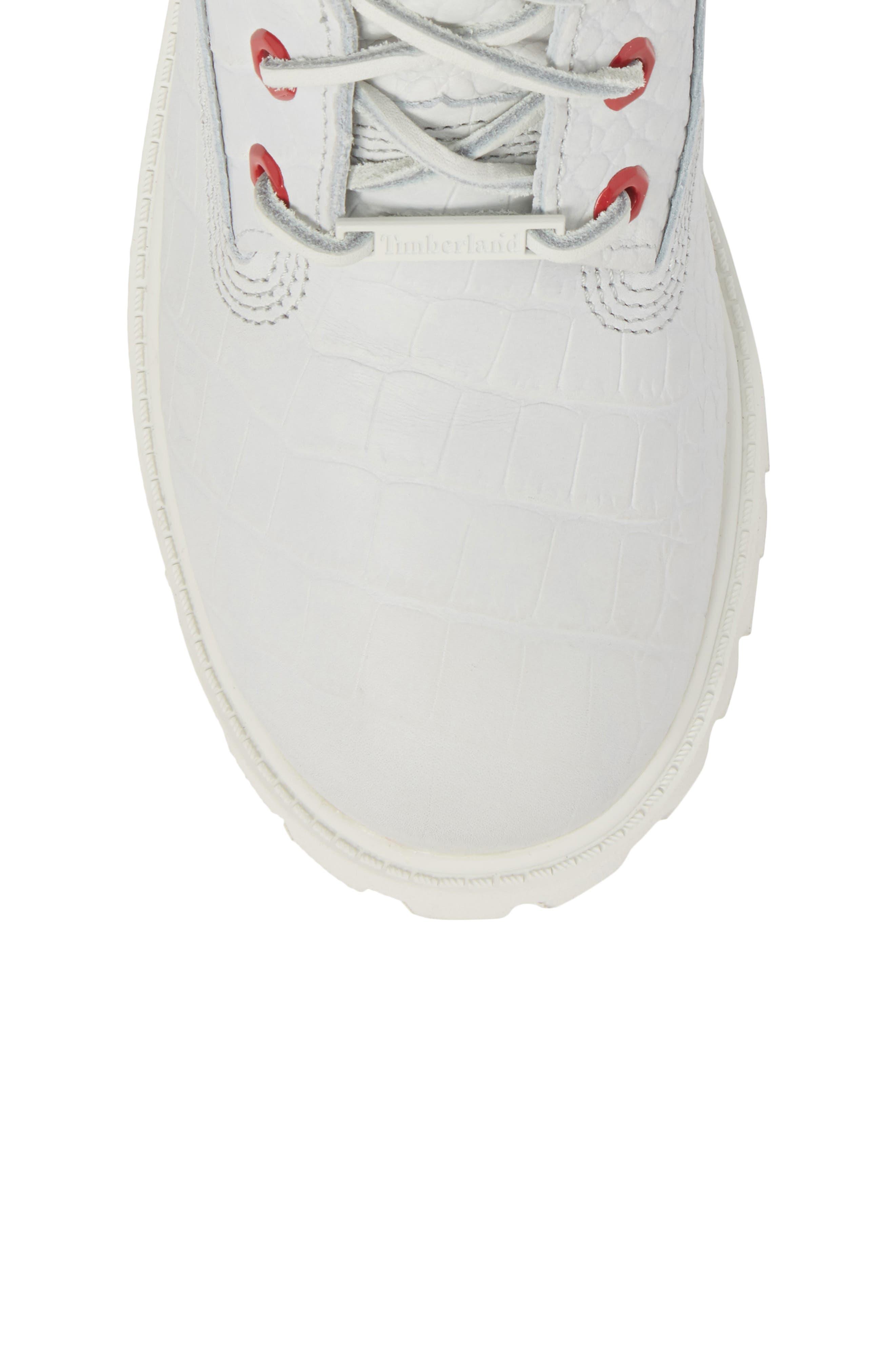 6-Inch Premium Waterproof Boot,                             Alternate thumbnail 5, color,                             White Cardinal Exotic