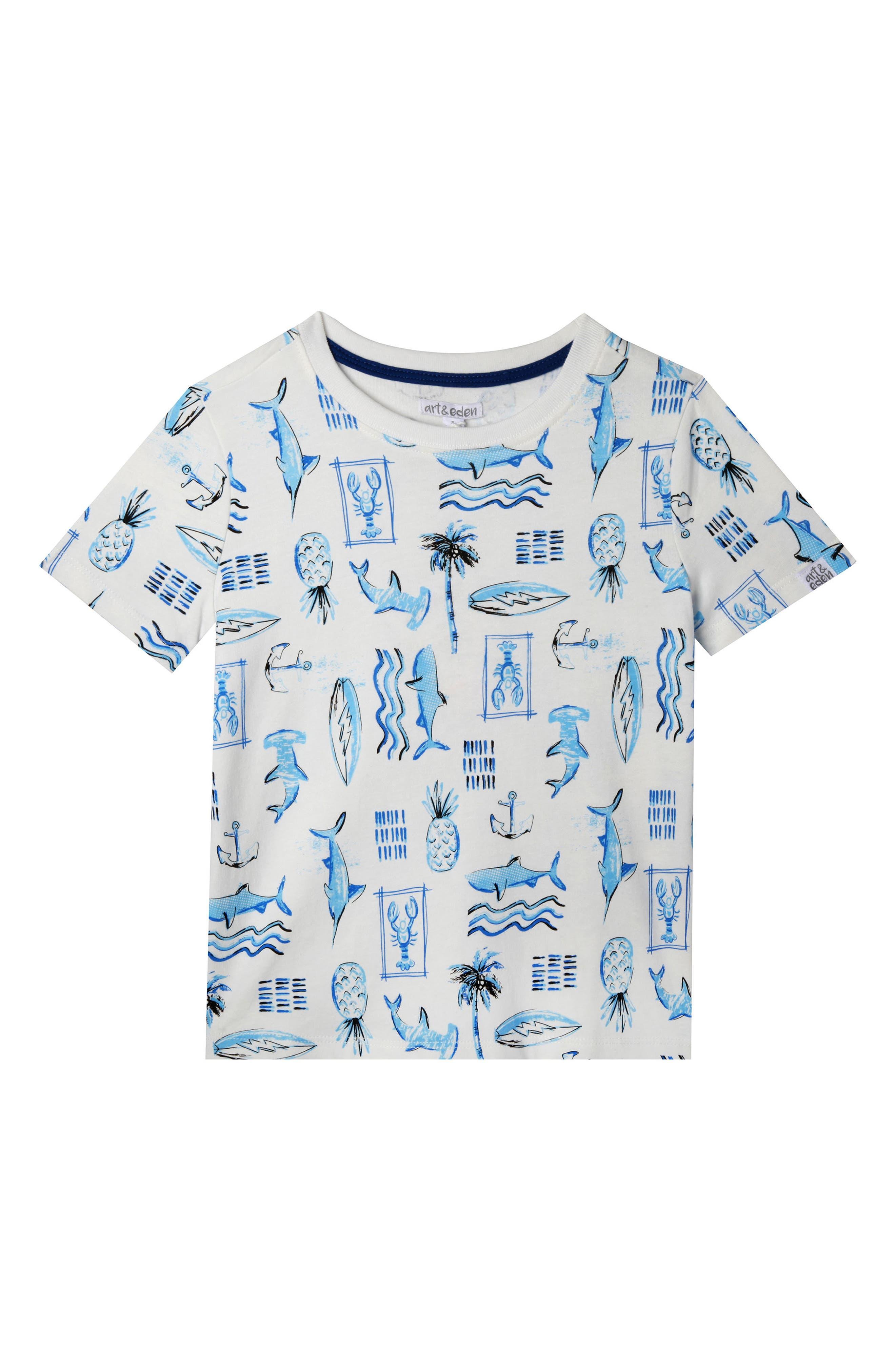 William Nautical Organic Cotton T-Shirt,                         Main,                         color, Egret