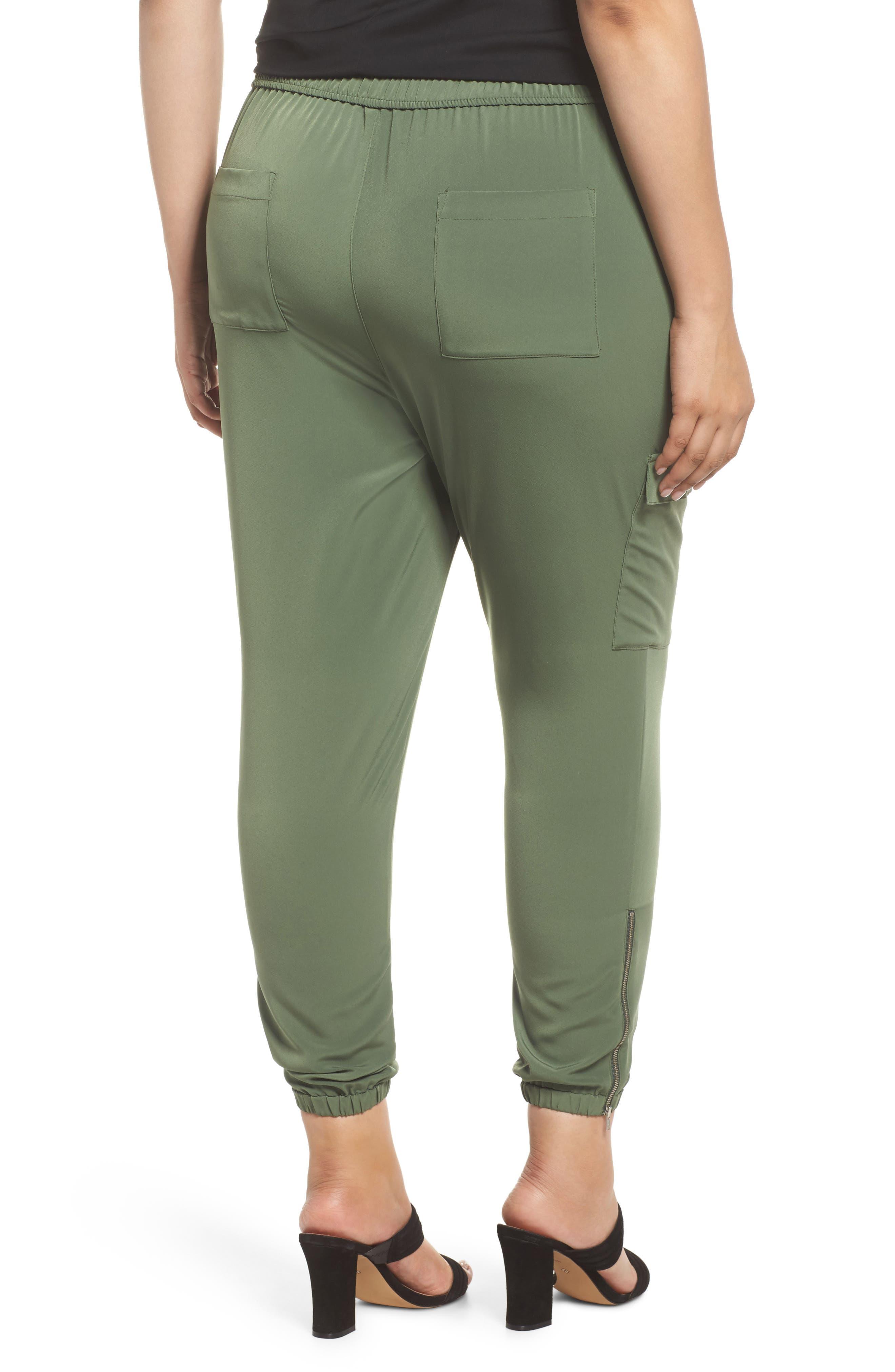 Zip Ankle Jogger Pants,                             Alternate thumbnail 2, color,                             Green Bronze