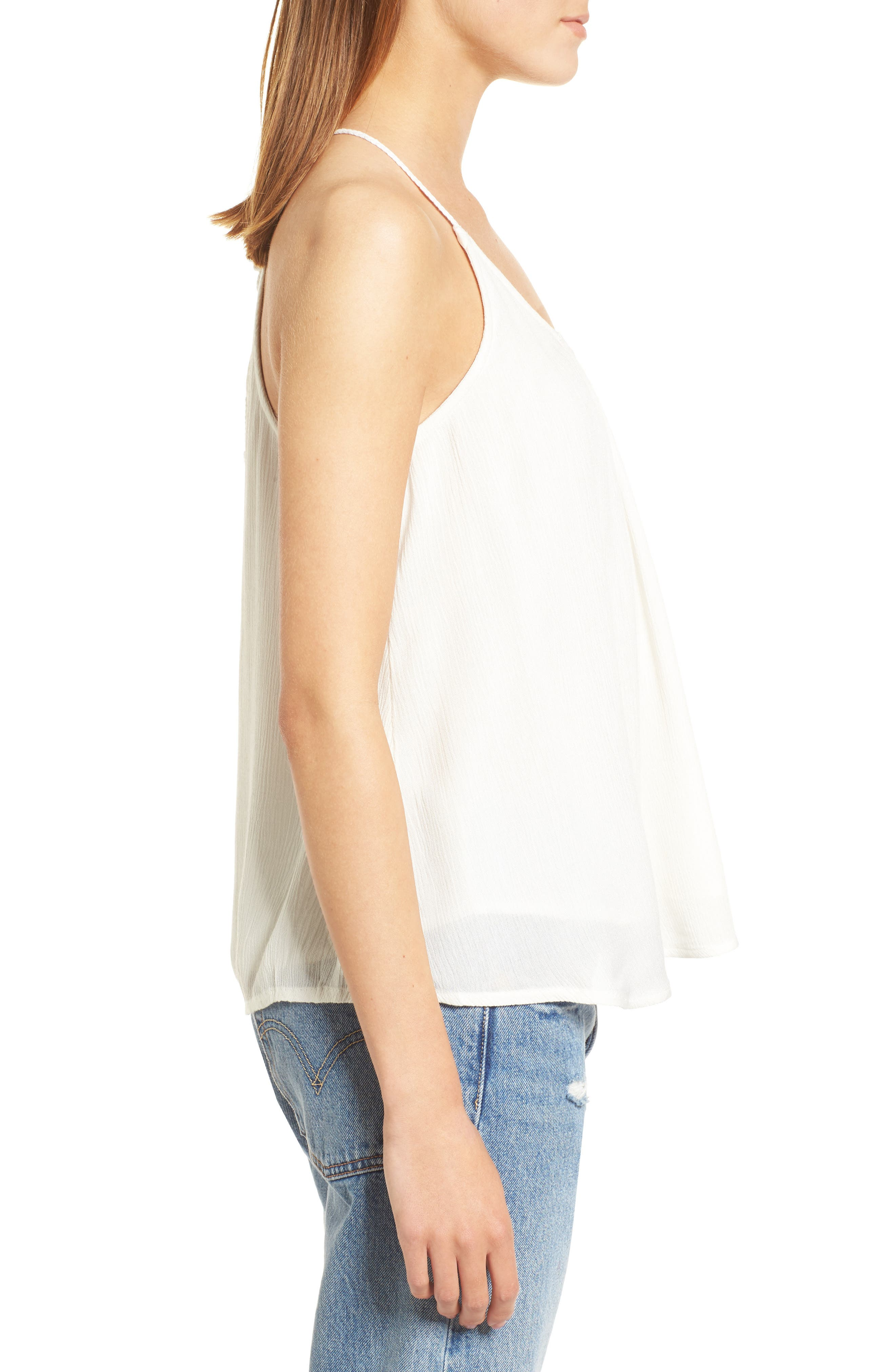 Local in the Sky Tie Back Tank,                             Alternate thumbnail 3, color,                             Marshmallow