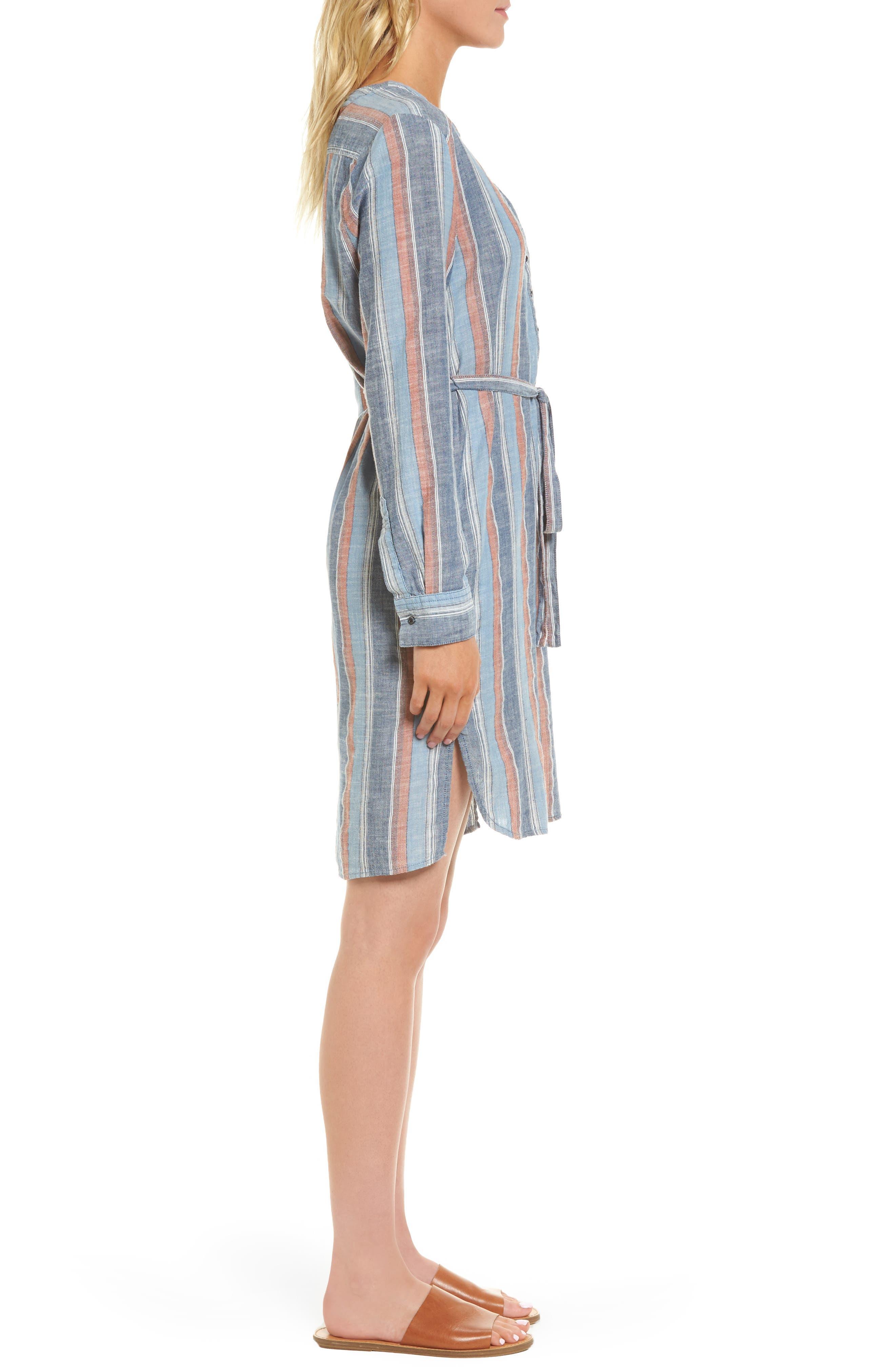 Anna Henley Dress,                             Alternate thumbnail 3, color,                             Blue Fig Multi
