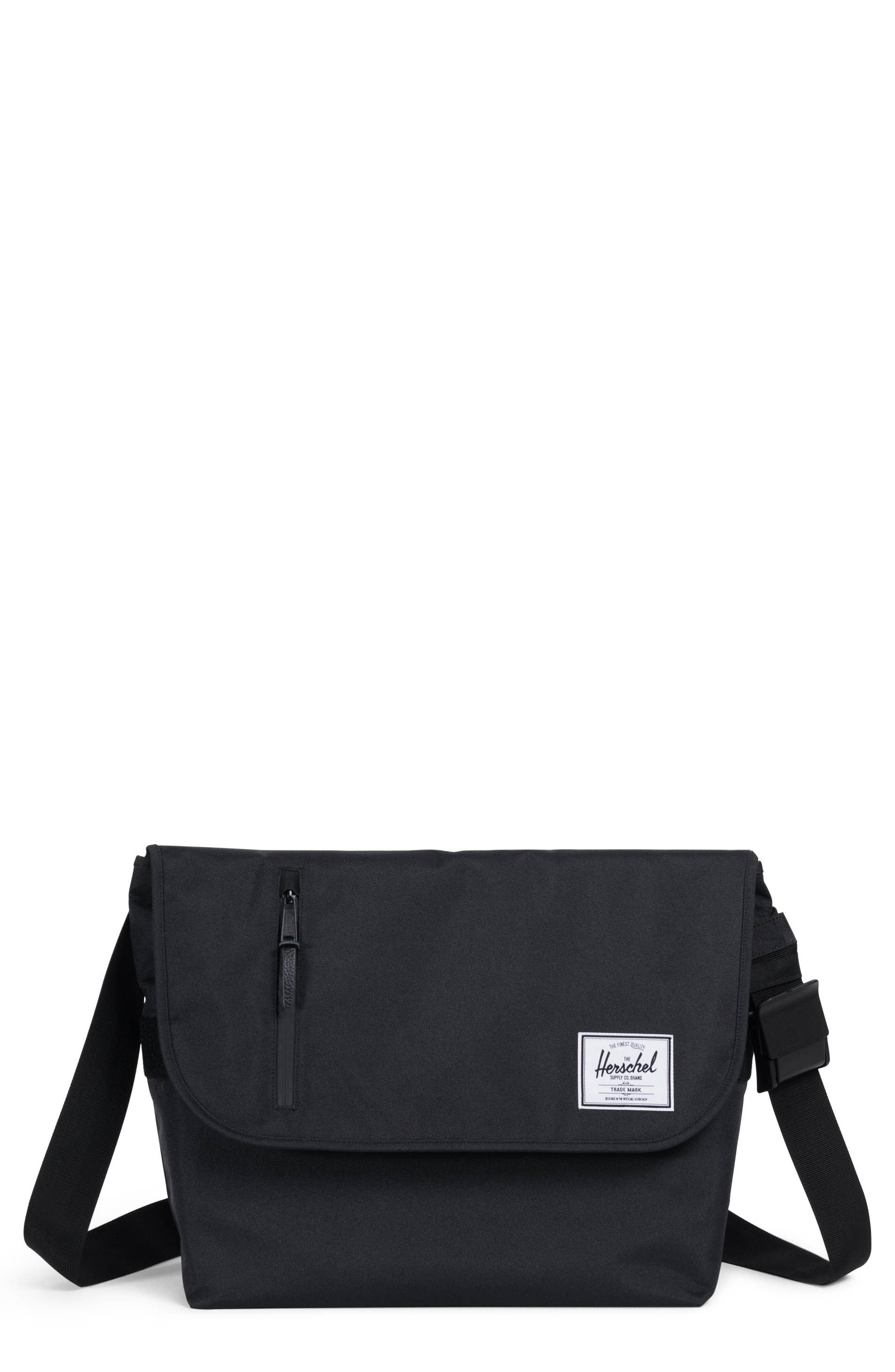 Odell Messenger Bag,                             Main thumbnail 1, color,                             Black