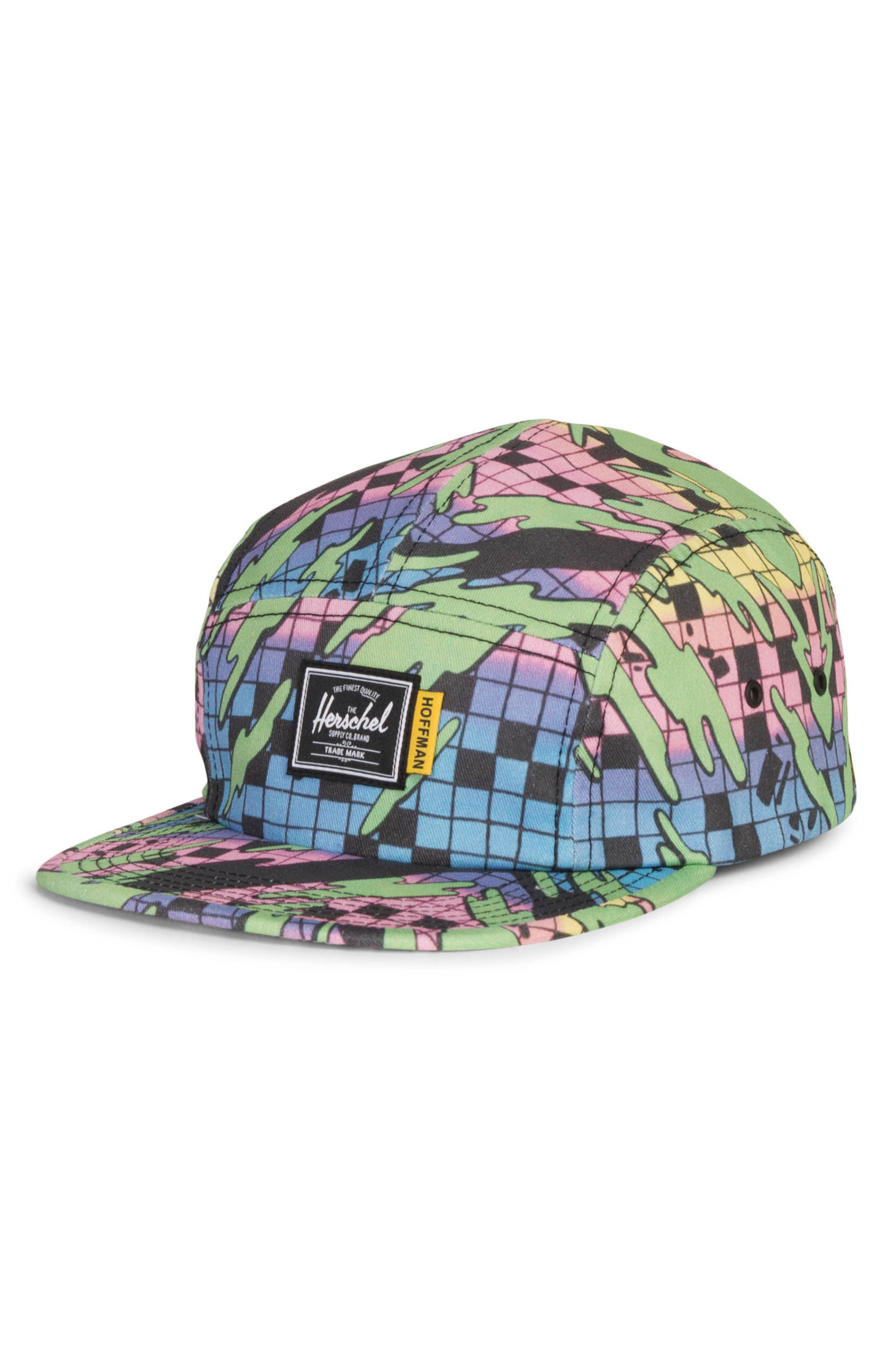 Eye-catching color adds  80s surf style to a bold cap with undeniable  appeal. Style Name  Herschel Supply Co. Hoffman Glendale Cap. Style Number   5568165. d207b47c1c16
