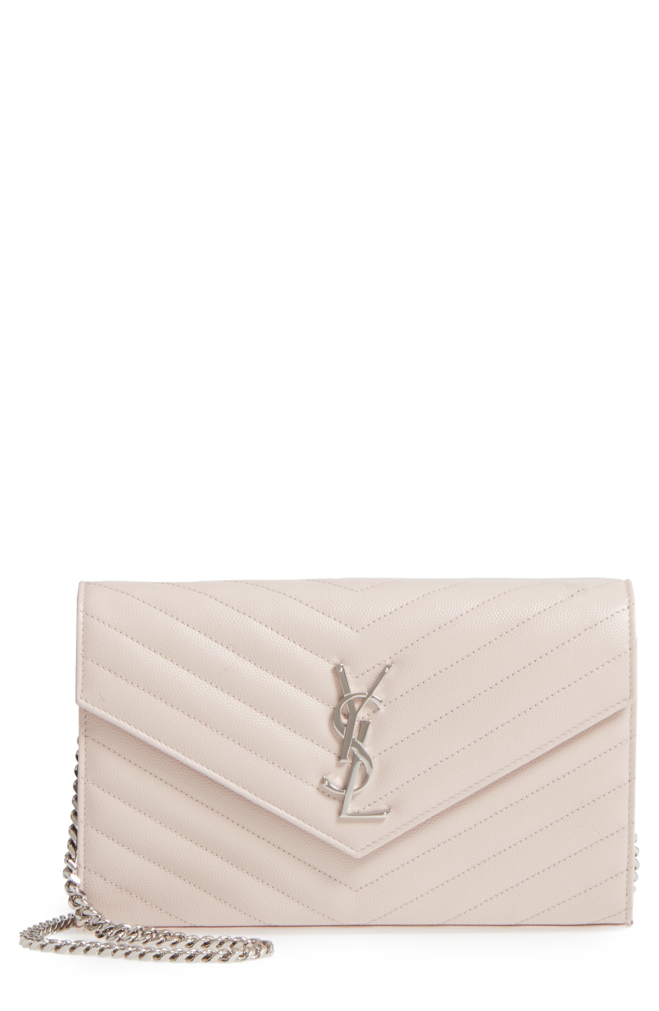 Main Image - Saint Laurent 'Monogram' Wallet on a Chain