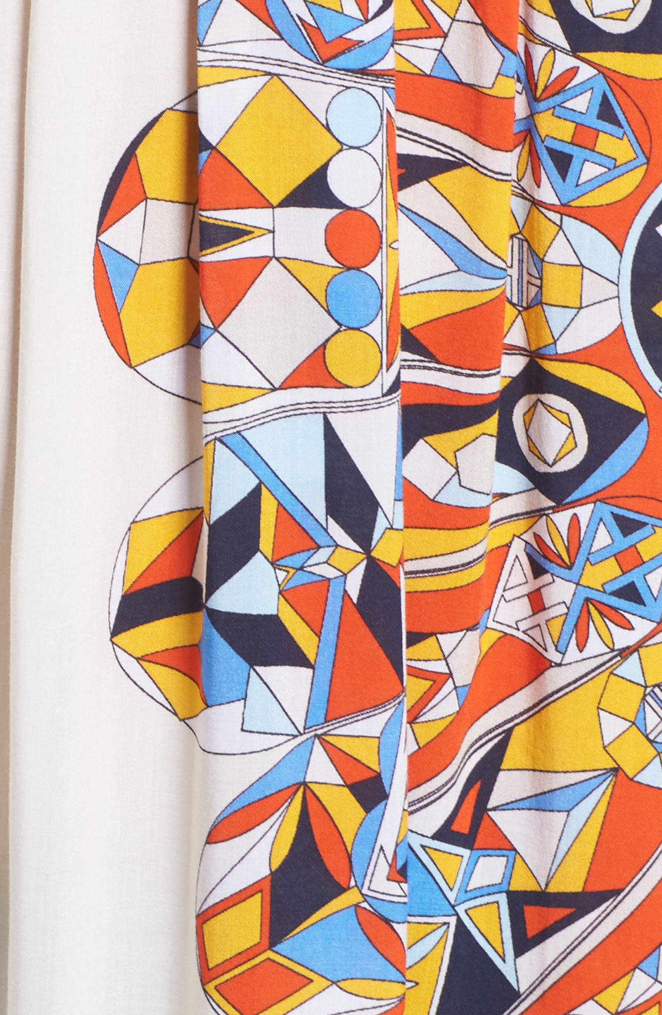 Geometric Tunic Cover-Up,                             Alternate thumbnail 5, color,                             Sweet Tangerine Psychedelic