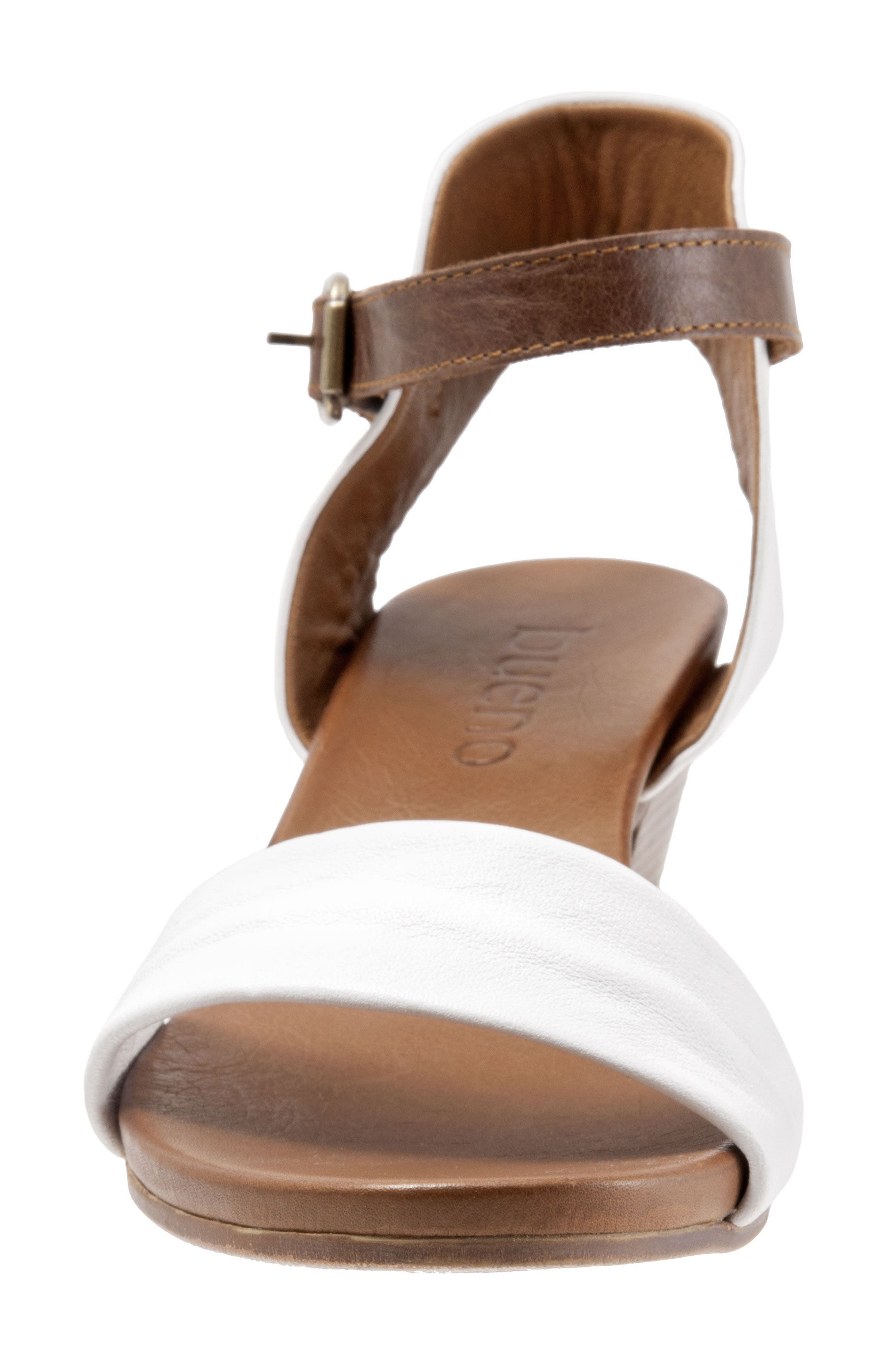 Sue Sandal,                             Alternate thumbnail 5, color,                             White Leather