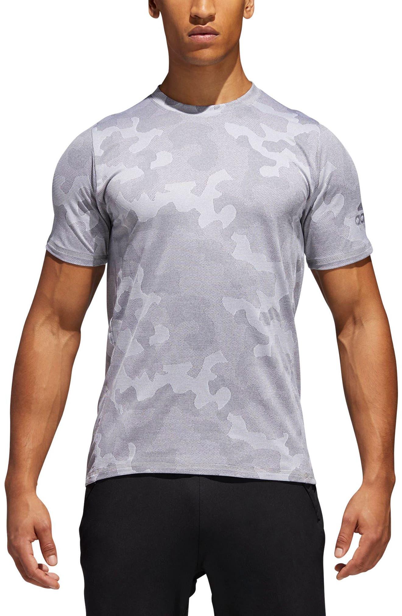 Camo Hype T-Shirt,                             Main thumbnail 1, color,                             Grey Three / White