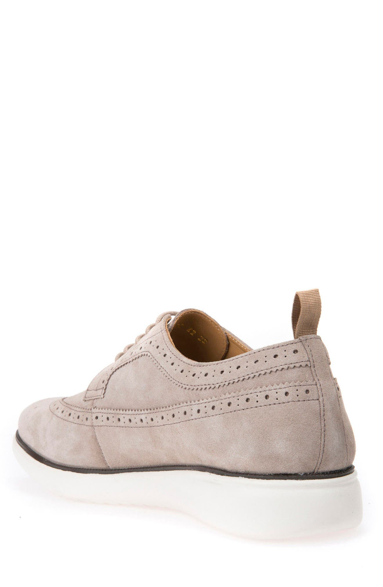 Winfred 2 Wingtip,                             Alternate thumbnail 2, color,                             Taupe Suede