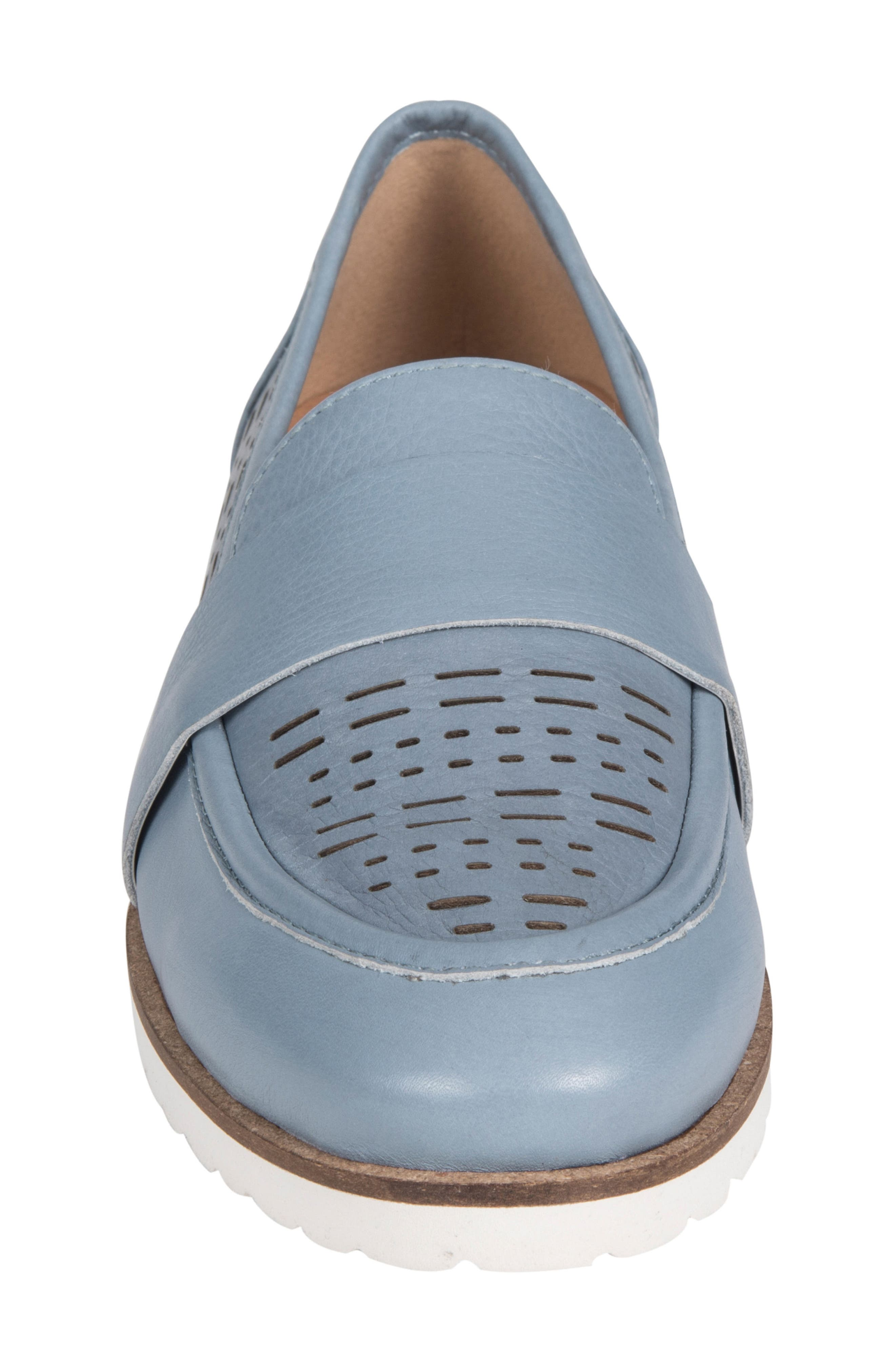 Masio Loafer,                             Alternate thumbnail 4, color,                             Blue Leather