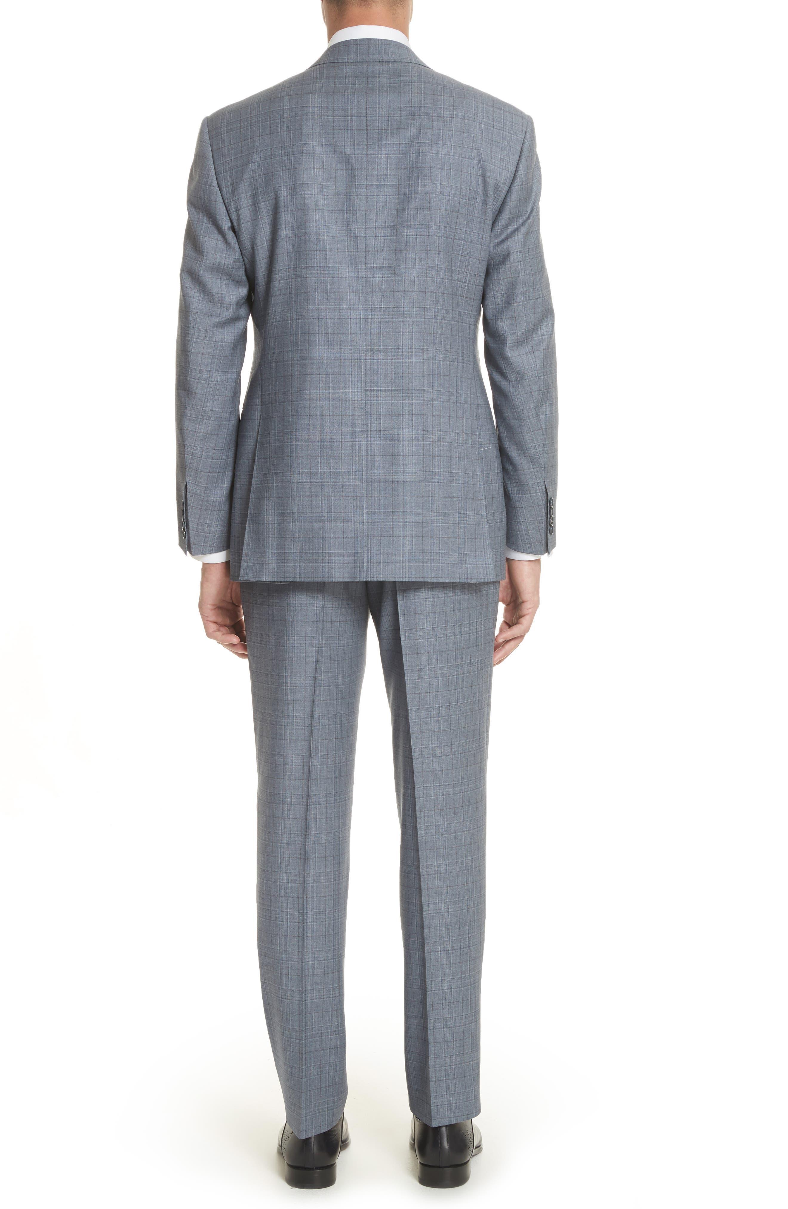 Classic Fit Plaid Wool Suit,                             Alternate thumbnail 2, color,                             Blue