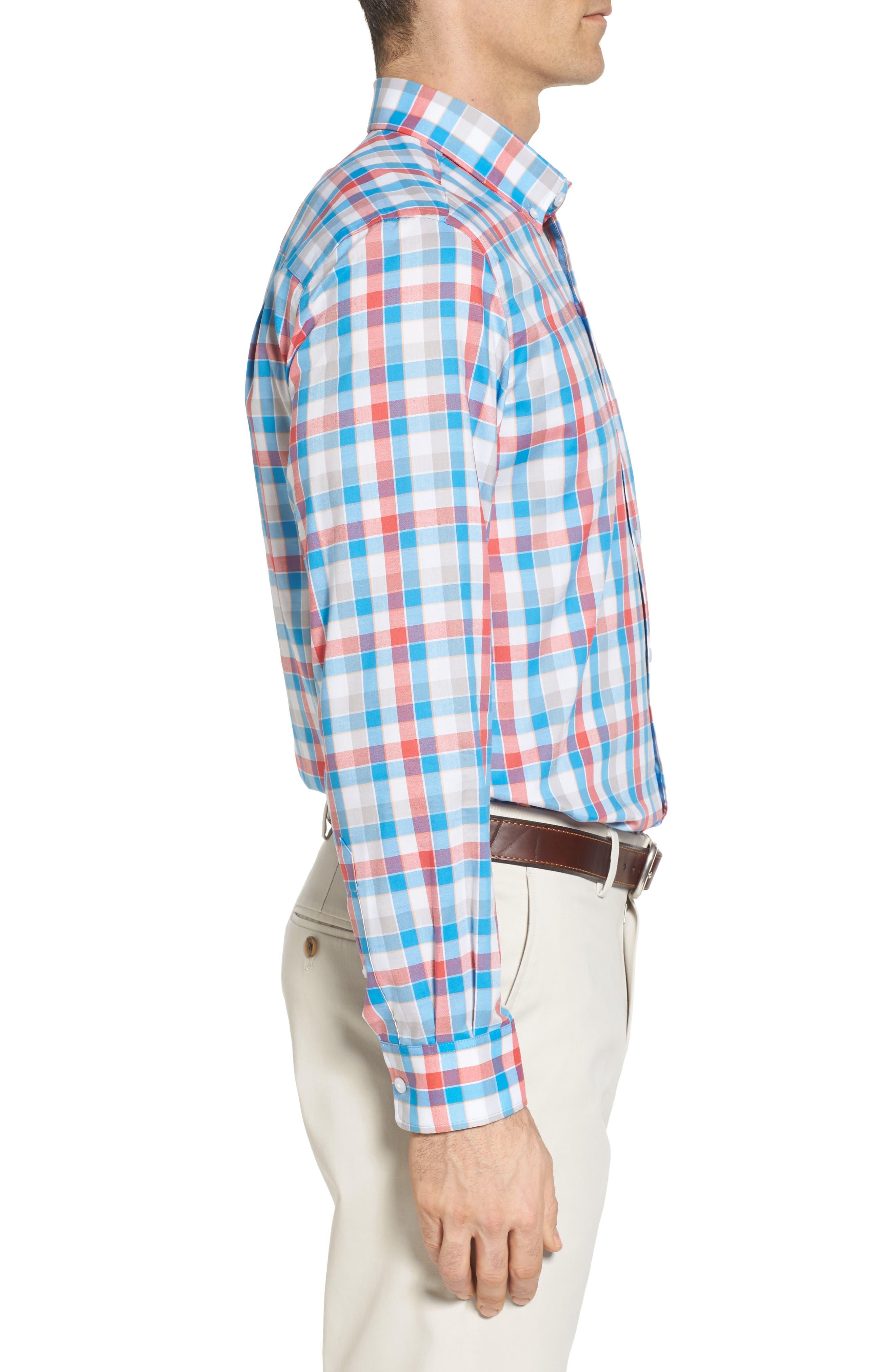 Alternate Image 3  - Cutter & Buck Dylan Easy Care Plaid Sport Shirt