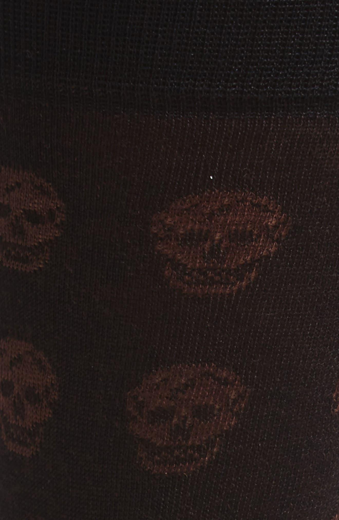 Skull Socks,                             Alternate thumbnail 2, color,                             Black/ Beige