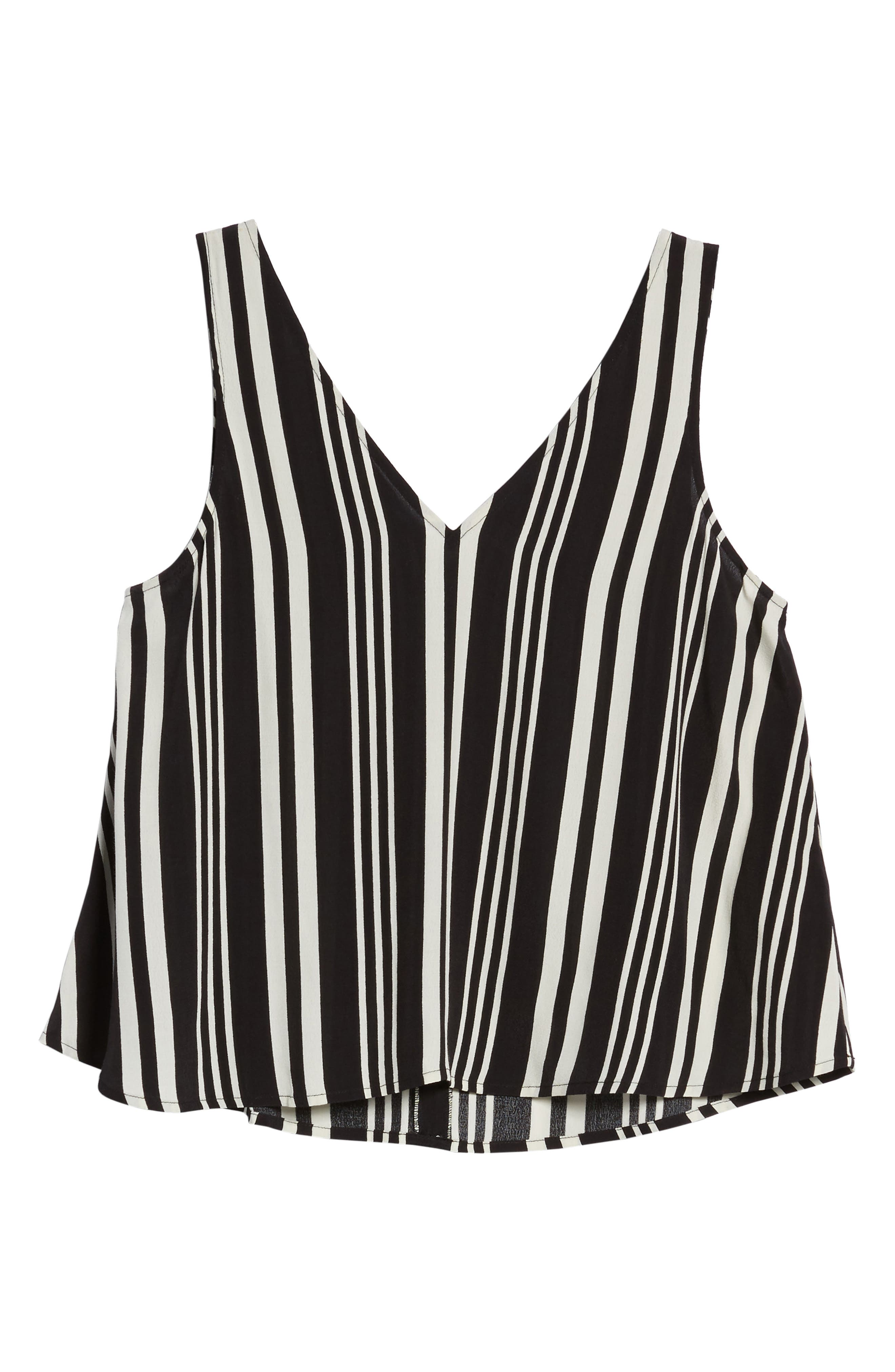 Double V Swing Tank,                             Alternate thumbnail 6, color,                             Black Bold Wide Stripe