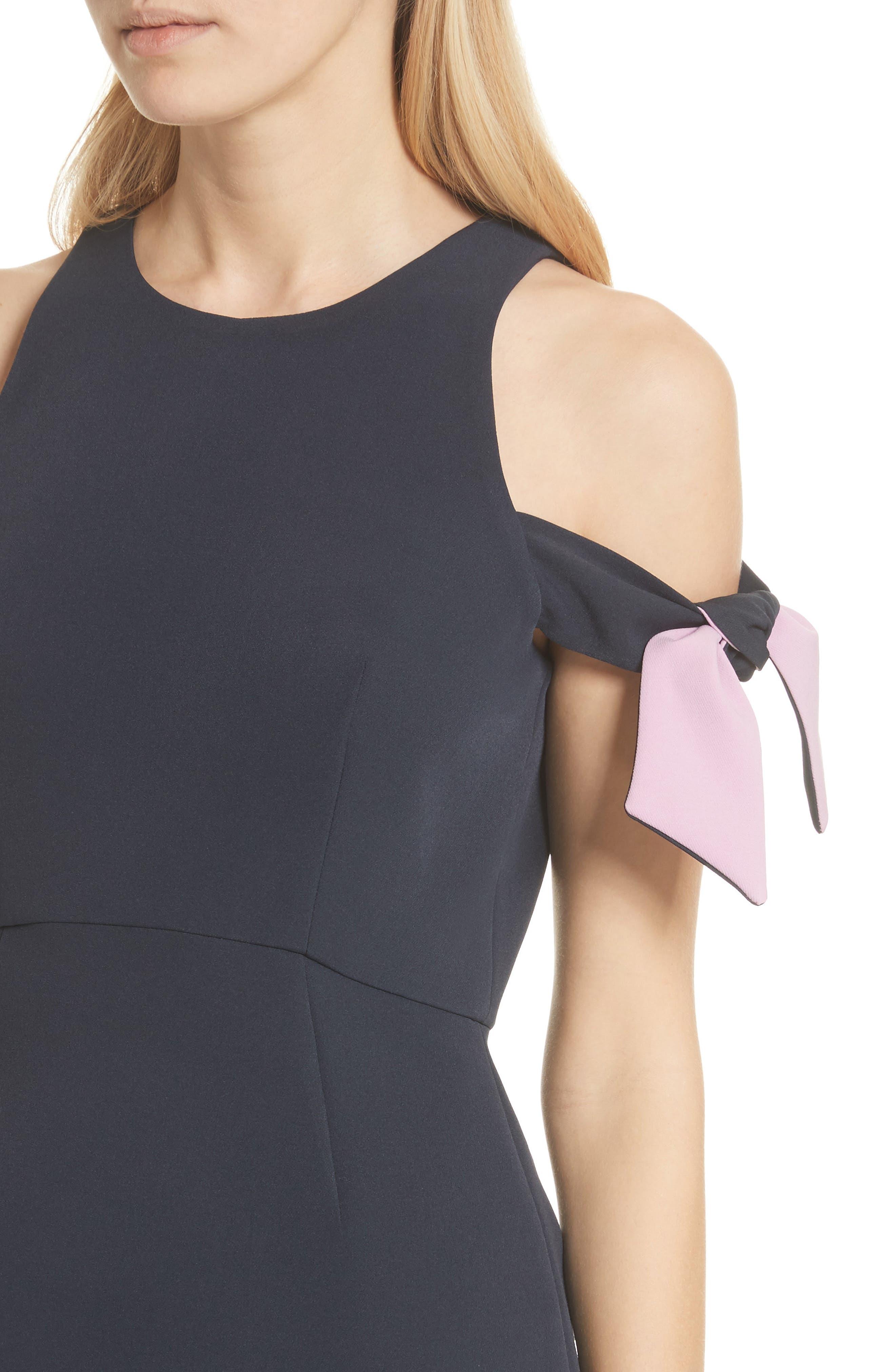 Alternate Image 4  - Milly Madison Cold Shoulder Minidress