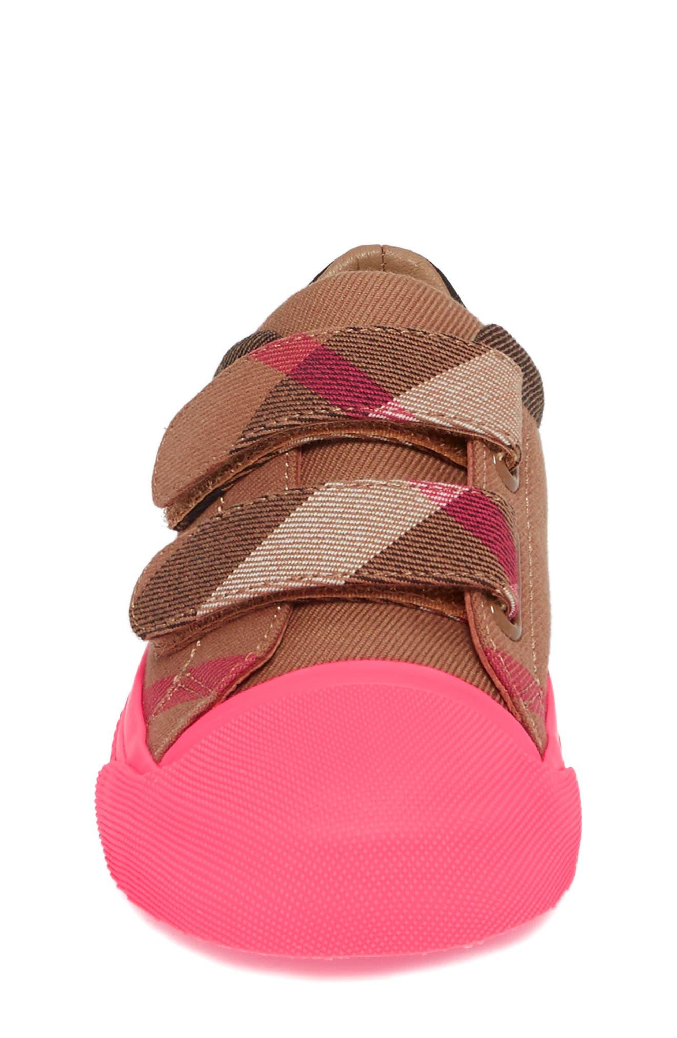 Belside Sneaker,                             Alternate thumbnail 4, color,                             Classic/ Neon Pink