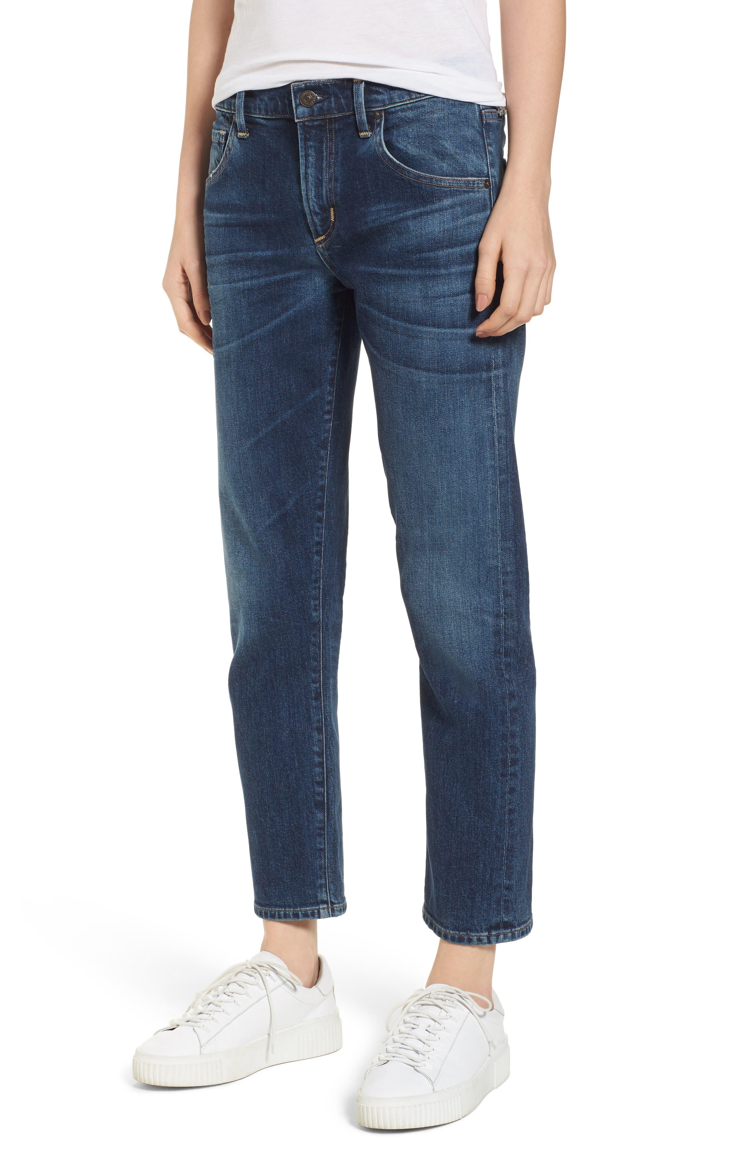 Emerson Slim Boyfriend Jeans,                         Main,                         color, New Moon