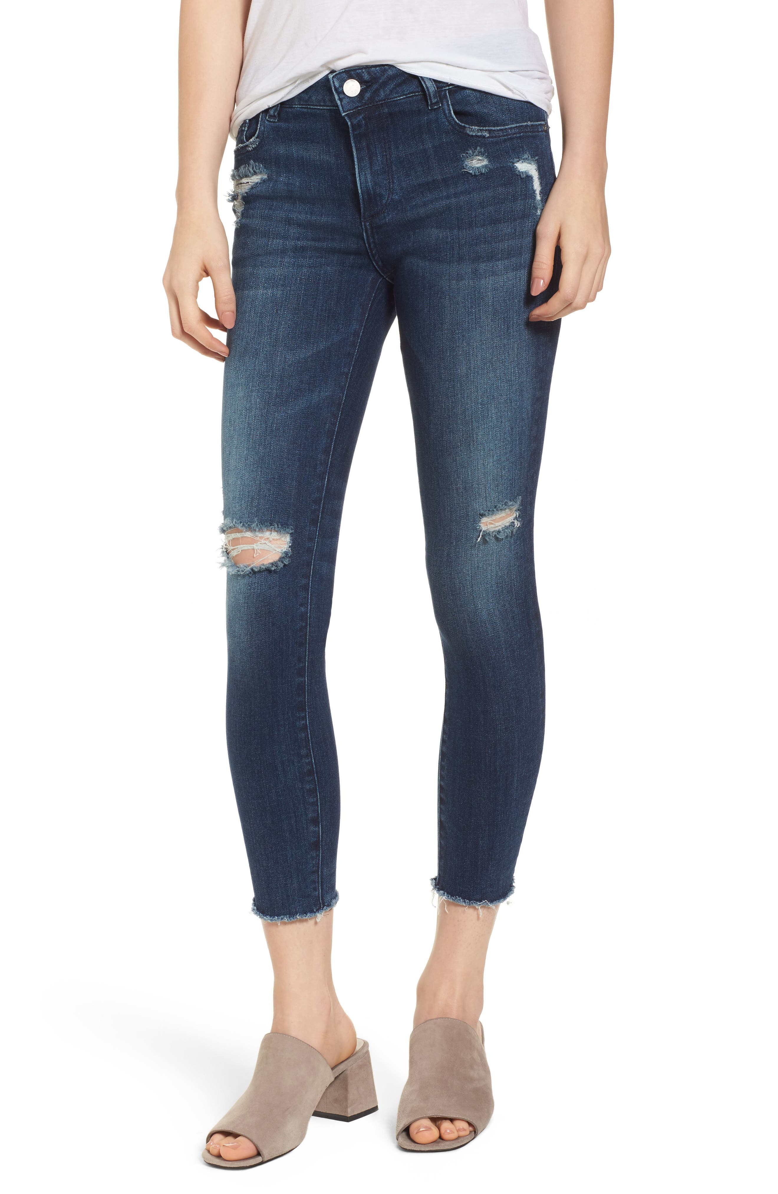 Florence Instasculpt Crop Skinny Jeans,                             Main thumbnail 1, color,                             Slater
