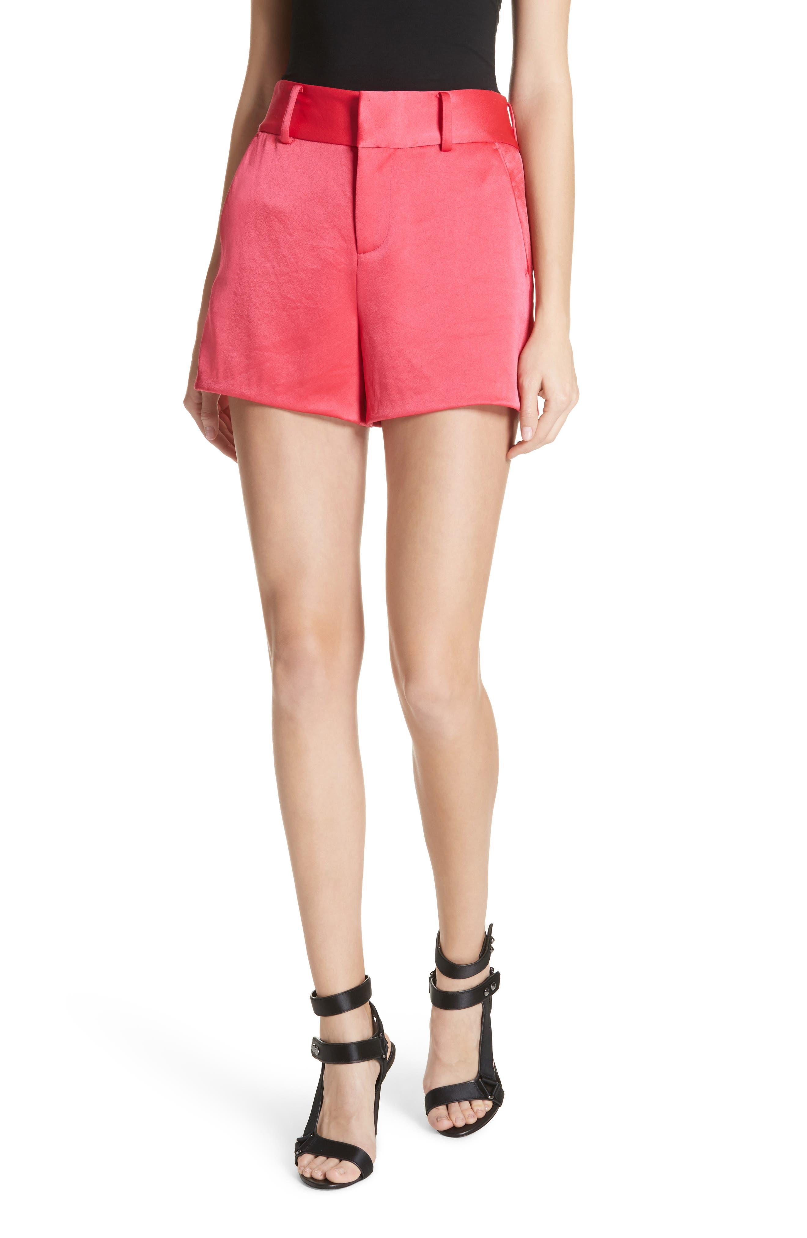 Alice + Olivia Satin Shorts