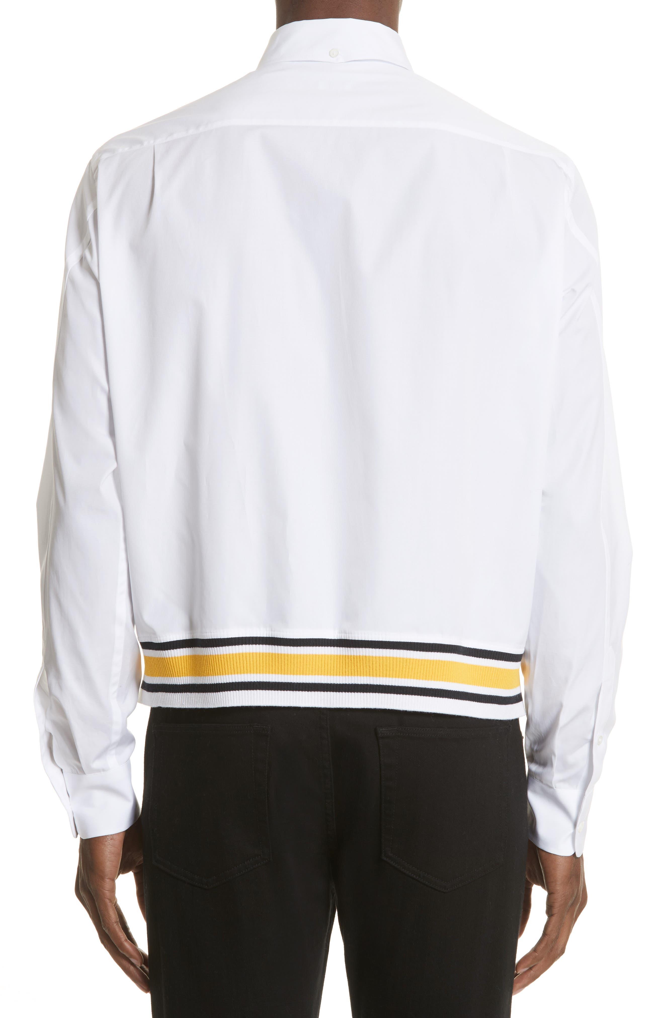 Blouson Hem Shirt,                             Alternate thumbnail 2, color,                             White