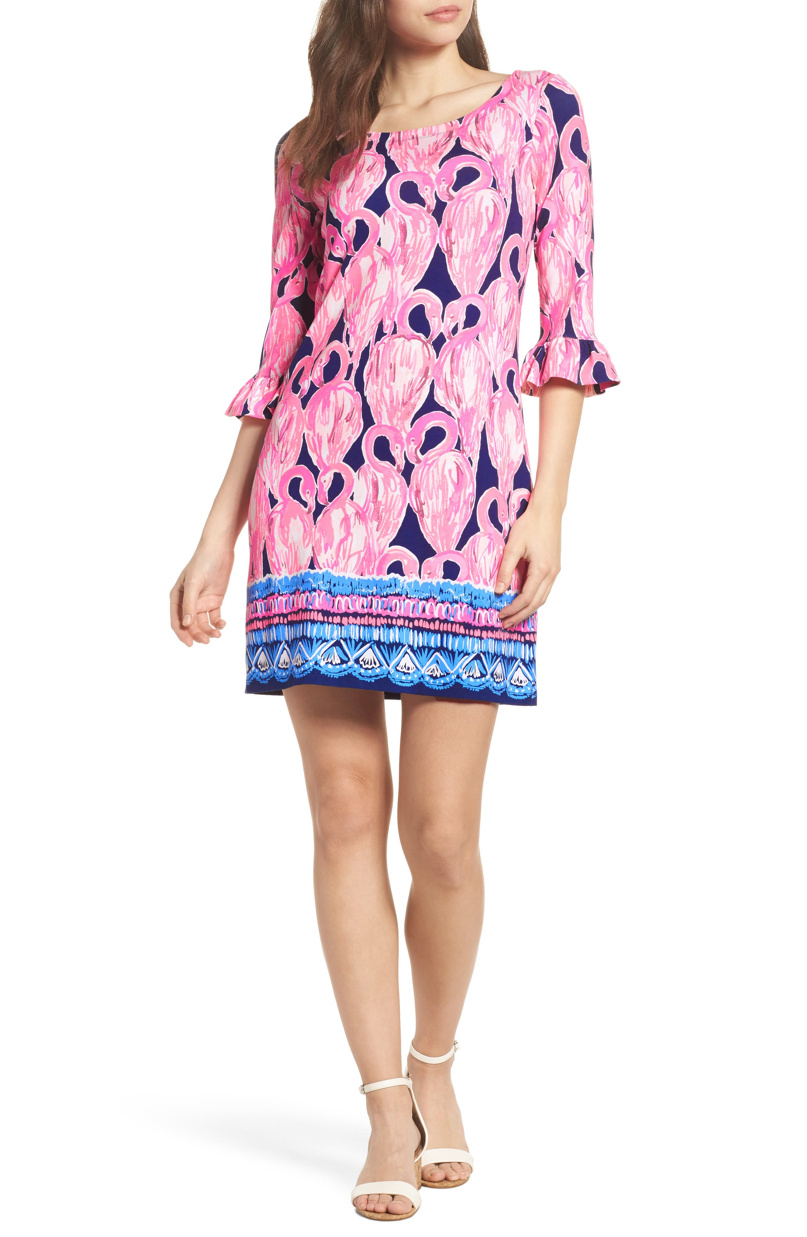 Sophie UPF 50+ Shift Dress,                             Main thumbnail 1, color,                             High Tide Via Amor