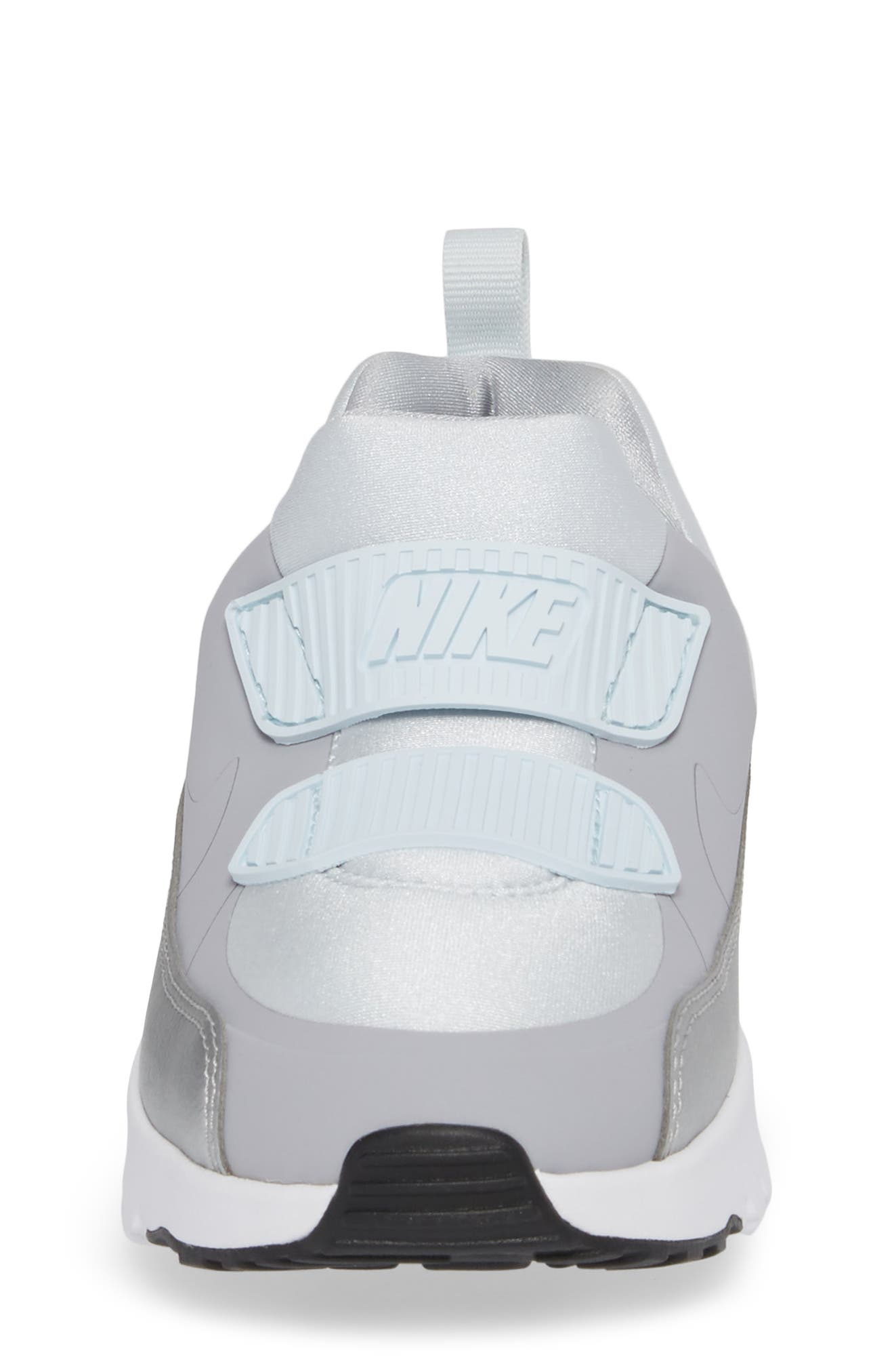 Air Max Tiny 90 Sneaker,                             Alternate thumbnail 4, color,                             Platinum/ Grey/ Silver