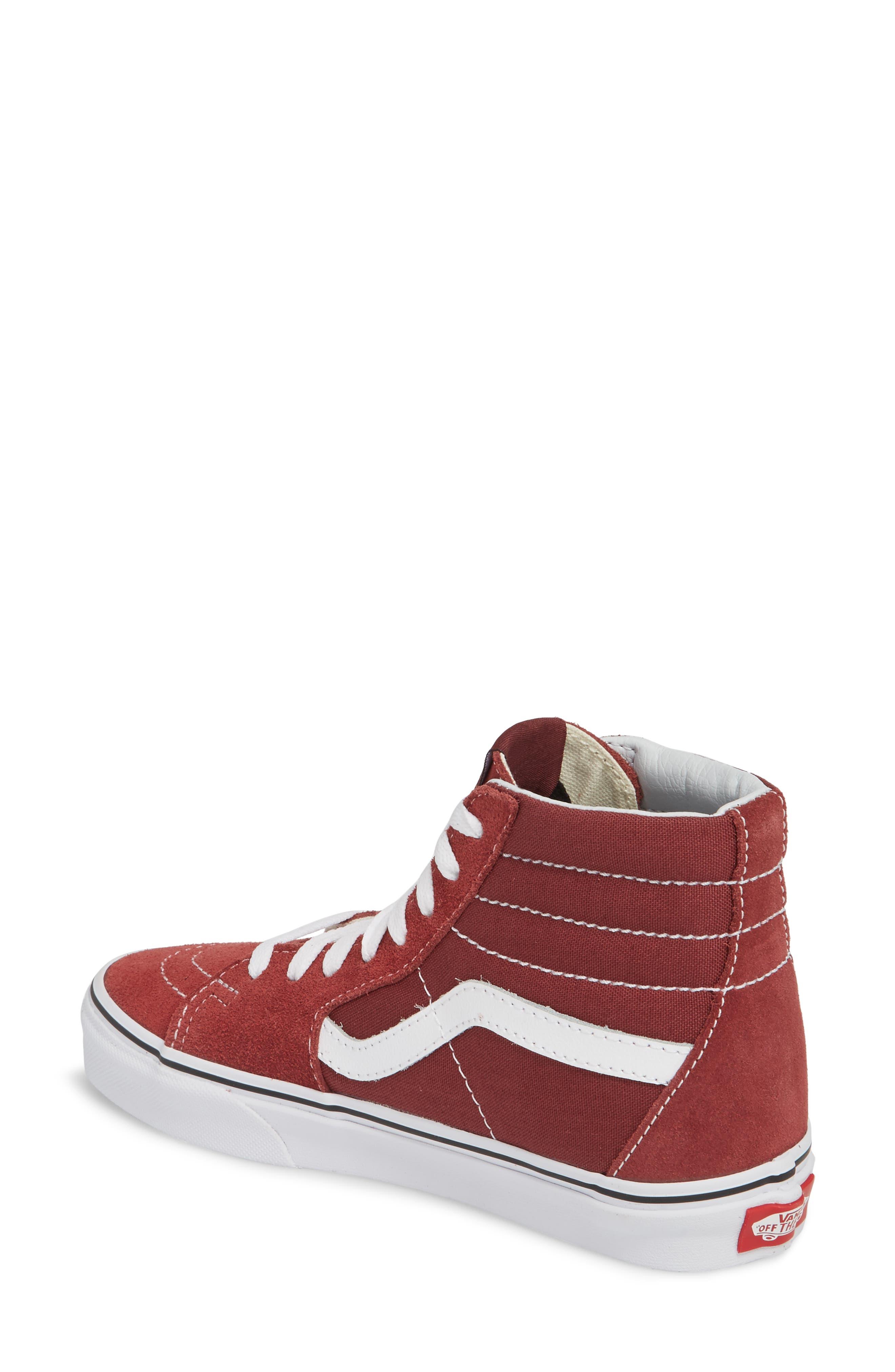 'Sk8-Hi Slim' Sneaker,                             Alternate thumbnail 2, color,                             Apple Butter/ True White