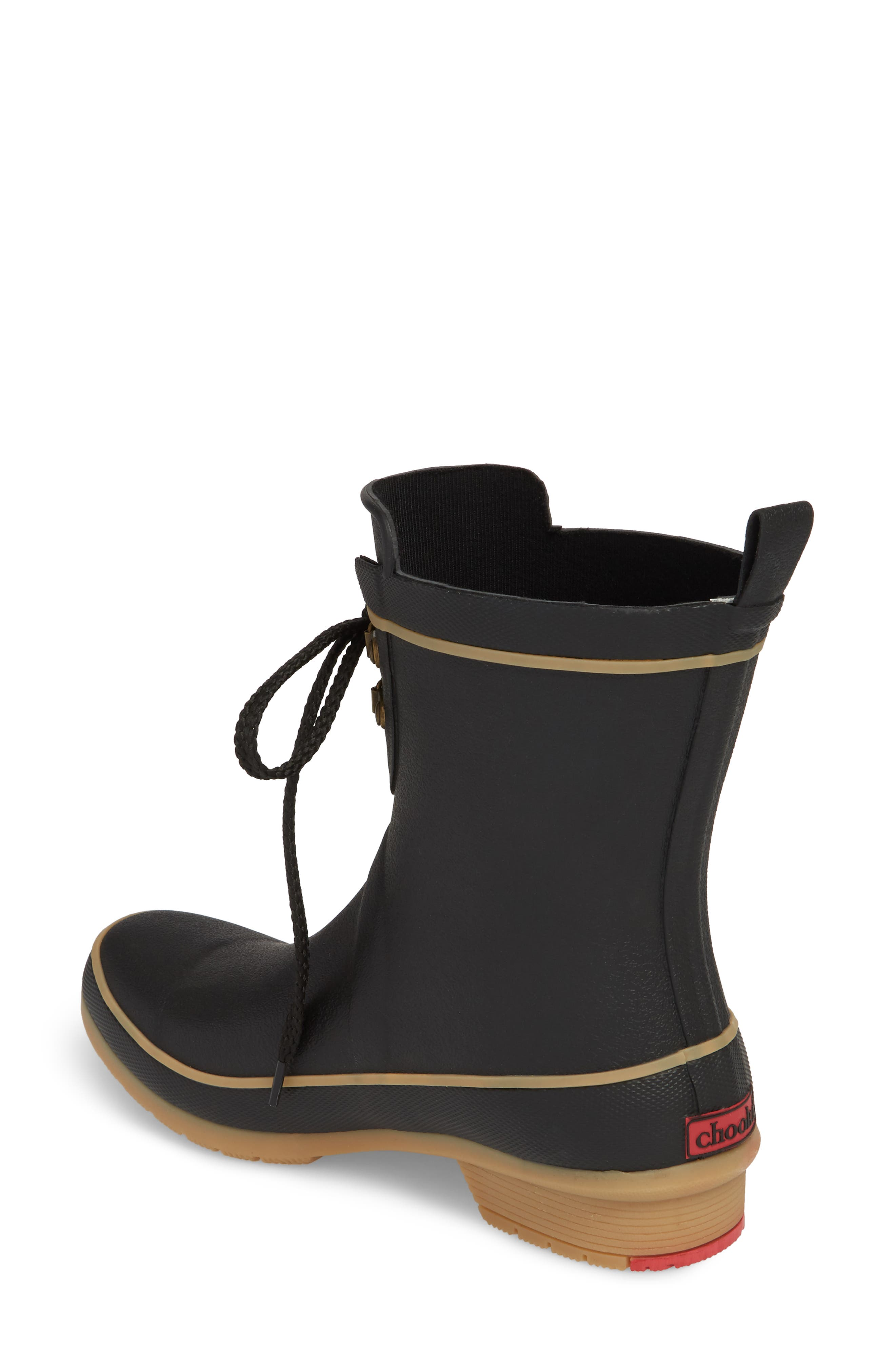 Whidbey Rain Boot,                             Alternate thumbnail 2, color,                             Black
