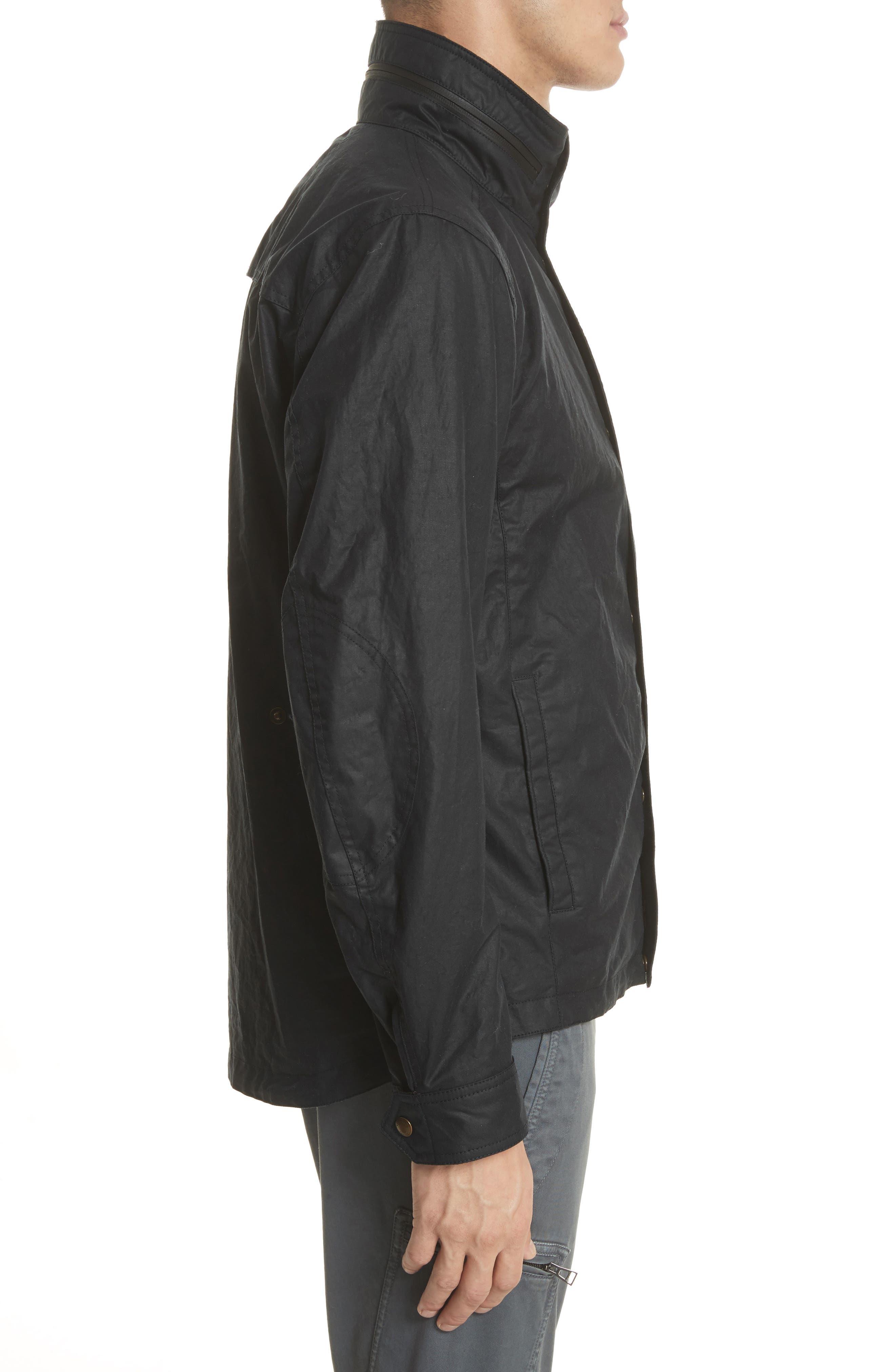 Citymaster 2 Waxed Cotton Moto Jacket,                             Alternate thumbnail 3, color,                             Black