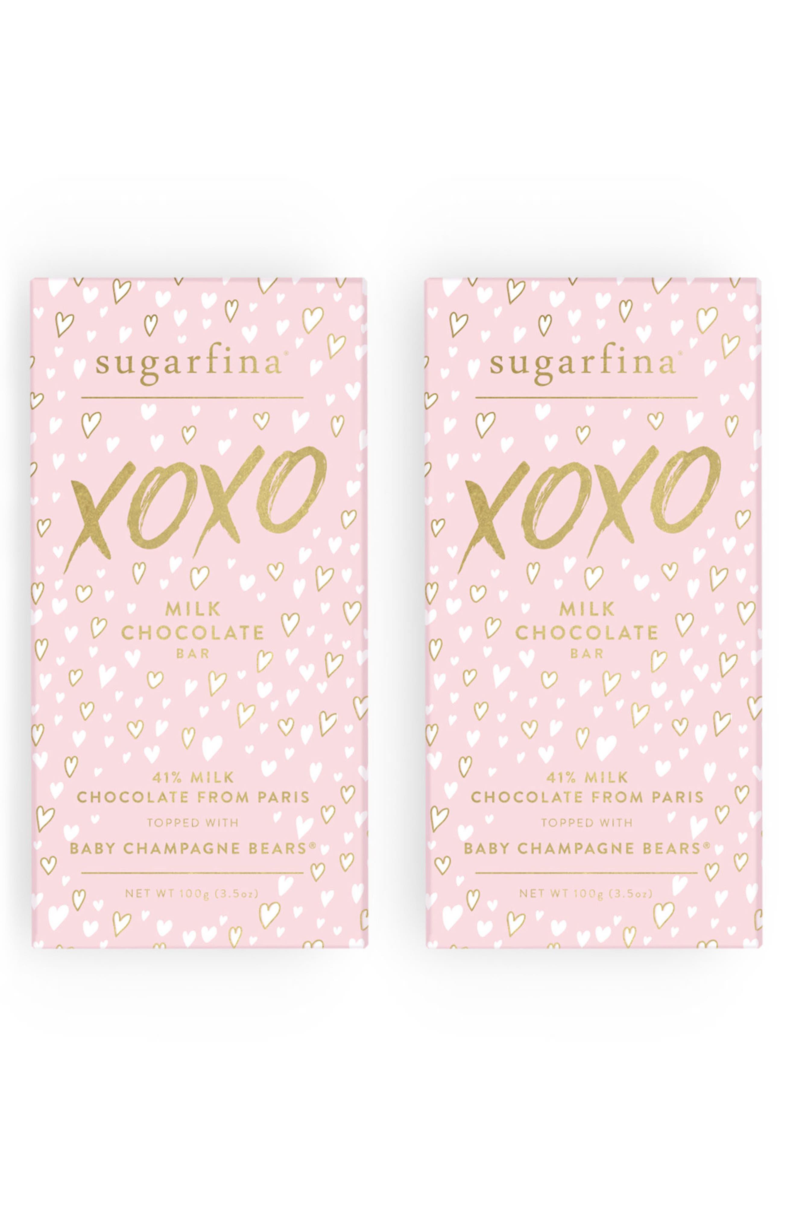 sugarfina XOXO 2-Pack Milk Chocolate Baby Champagne Bears® Bars