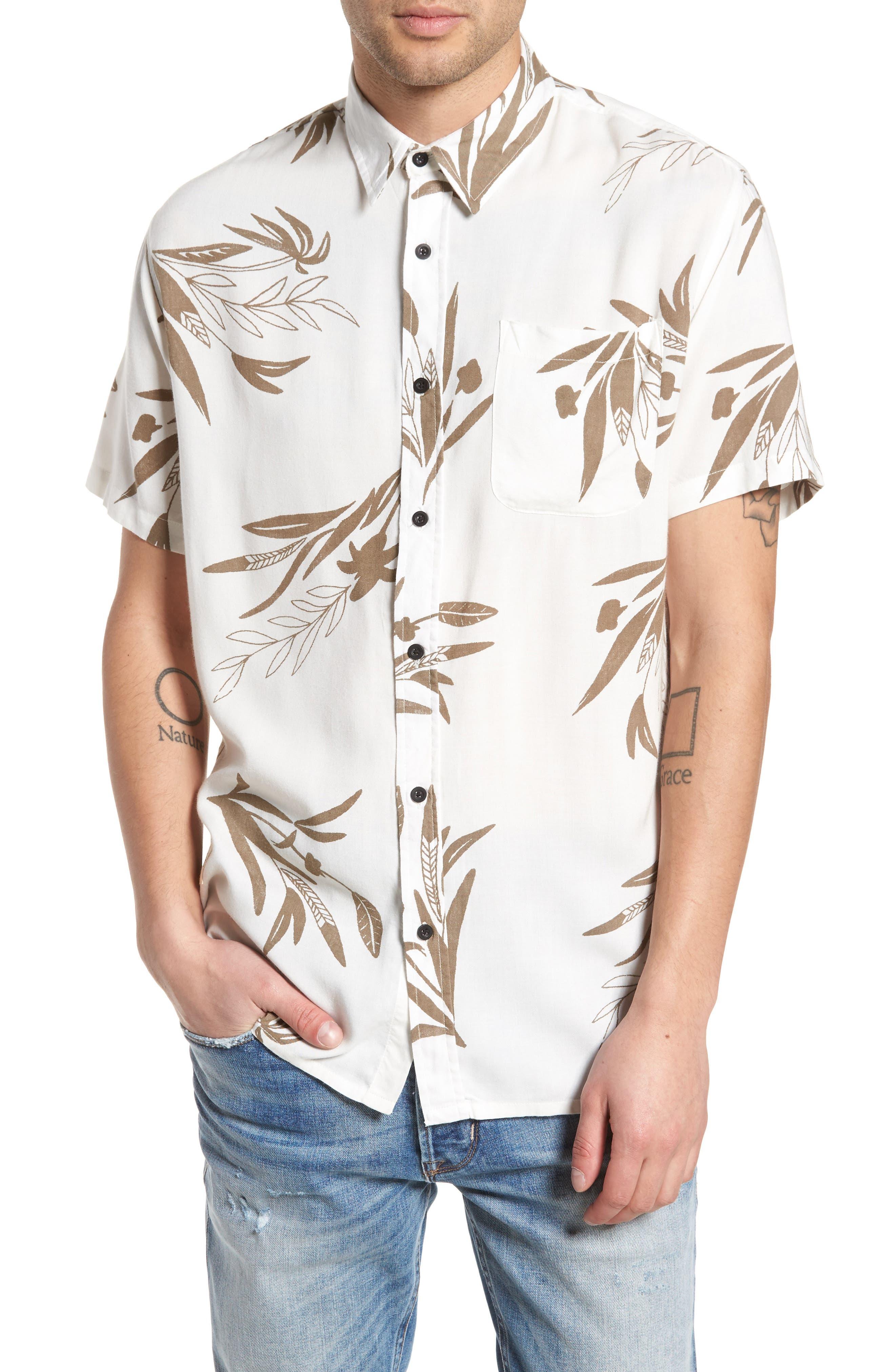 Simmer Short Sleeve Shirt,                         Main,                         color, Vintage White