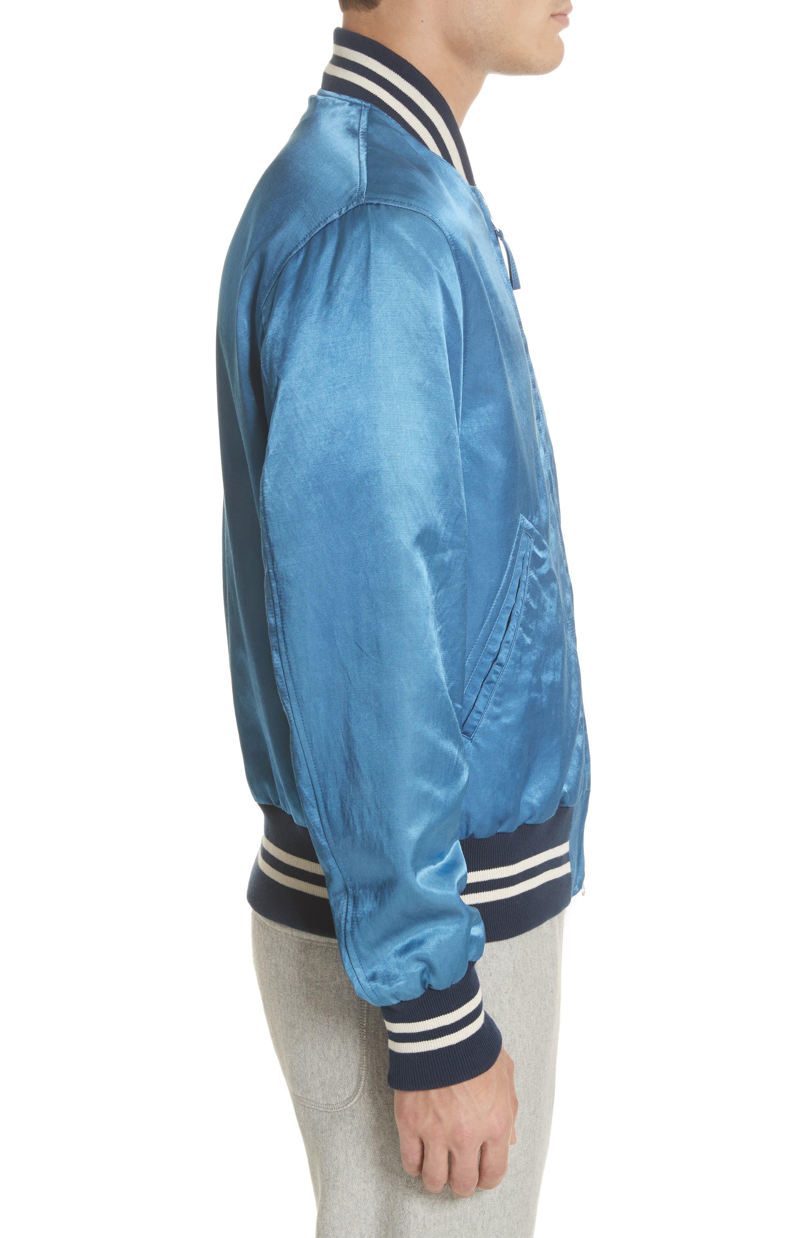 + Champion Bomber Jacket,                             Alternate thumbnail 3, color,                             Indigo