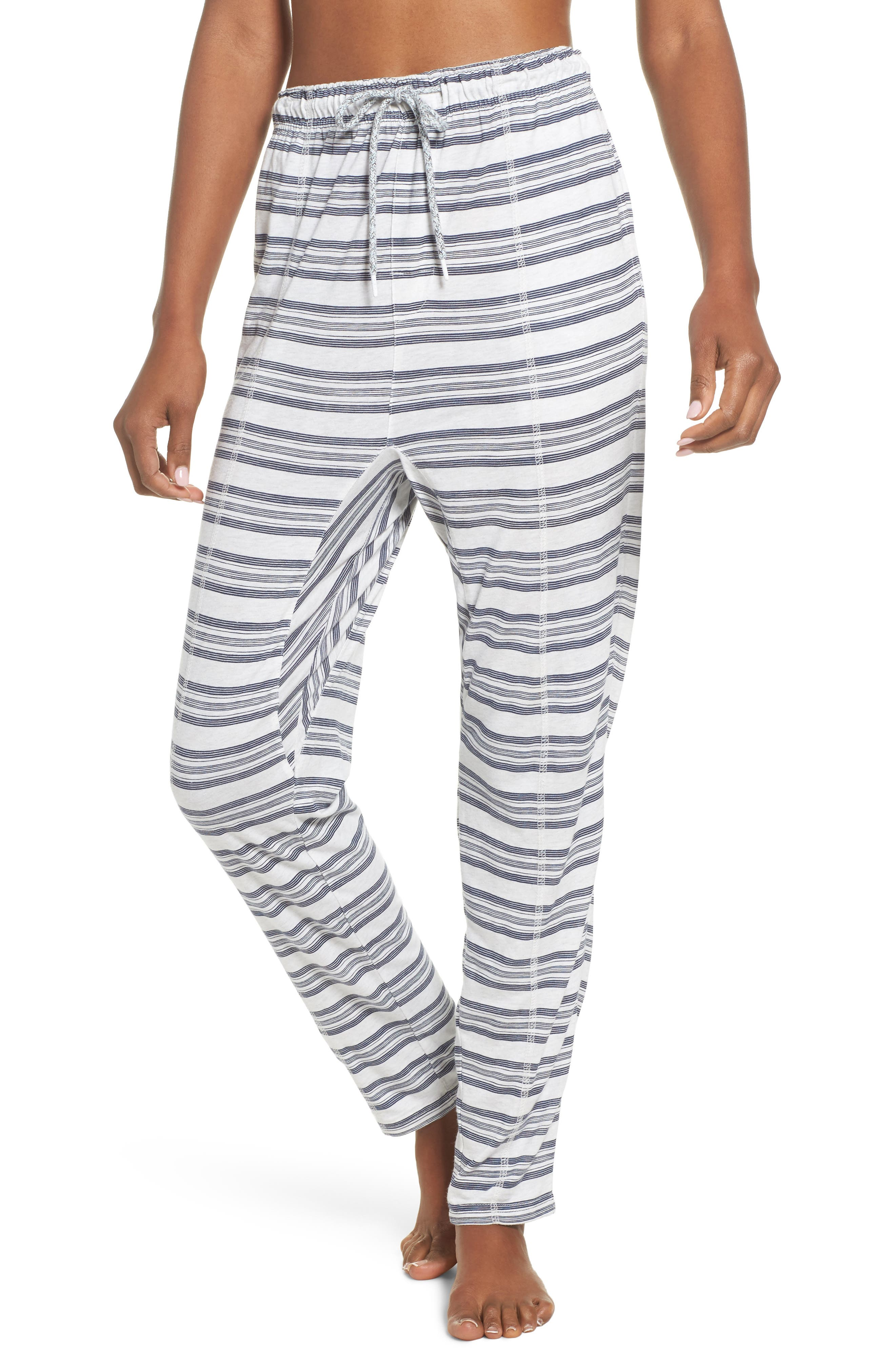 Alice Lounge Pants,                         Main,                         color, Snow Marle Stripe
