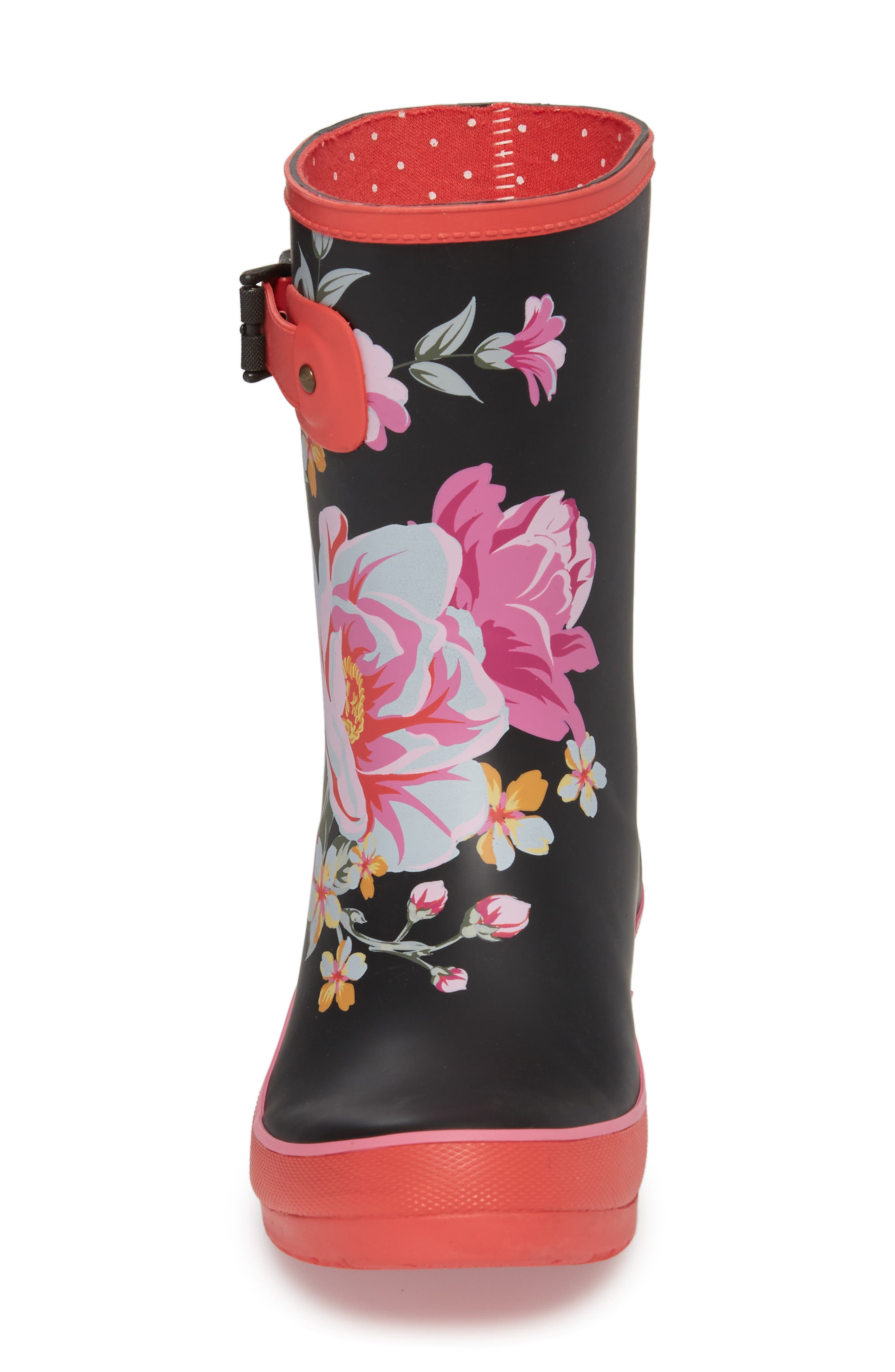 Hilde Mid Rain Boot,                             Alternate thumbnail 4, color,                             Fuchsia