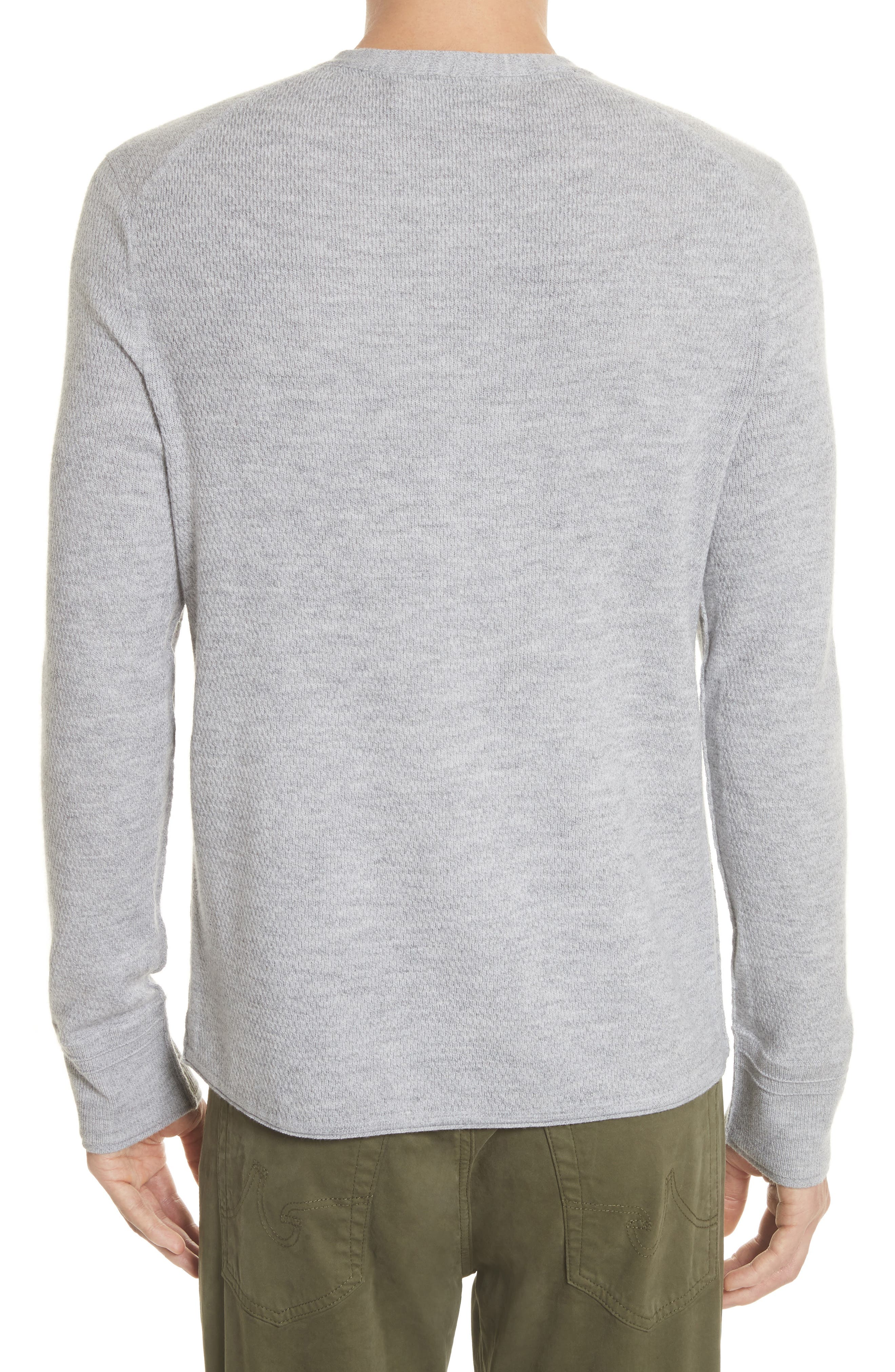 Gregory Wool Blend Thermal Henley,                             Alternate thumbnail 2, color,                             Grey