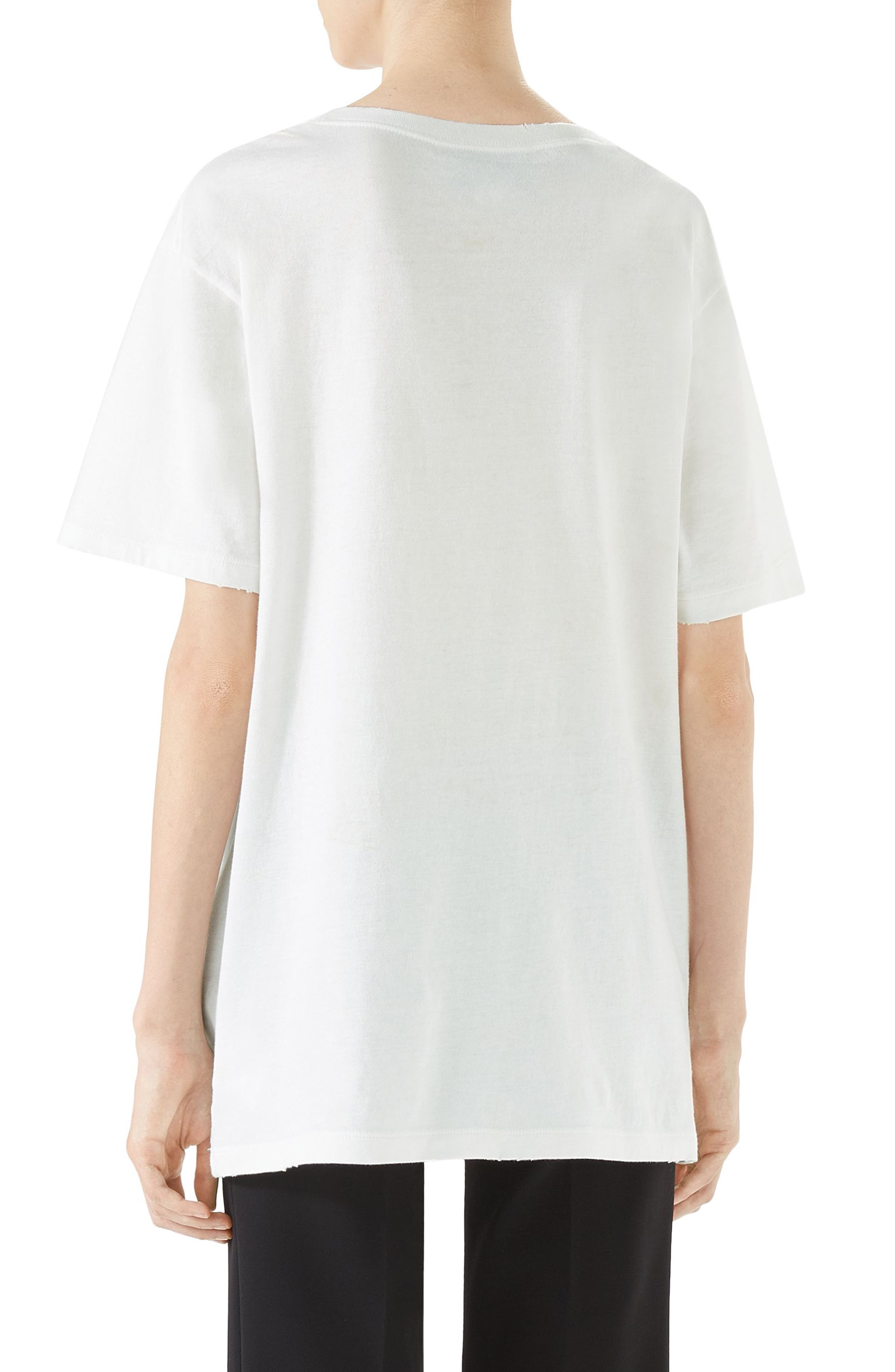 Guccify Snake Print Tee,                             Alternate thumbnail 2, color,                             Ivory