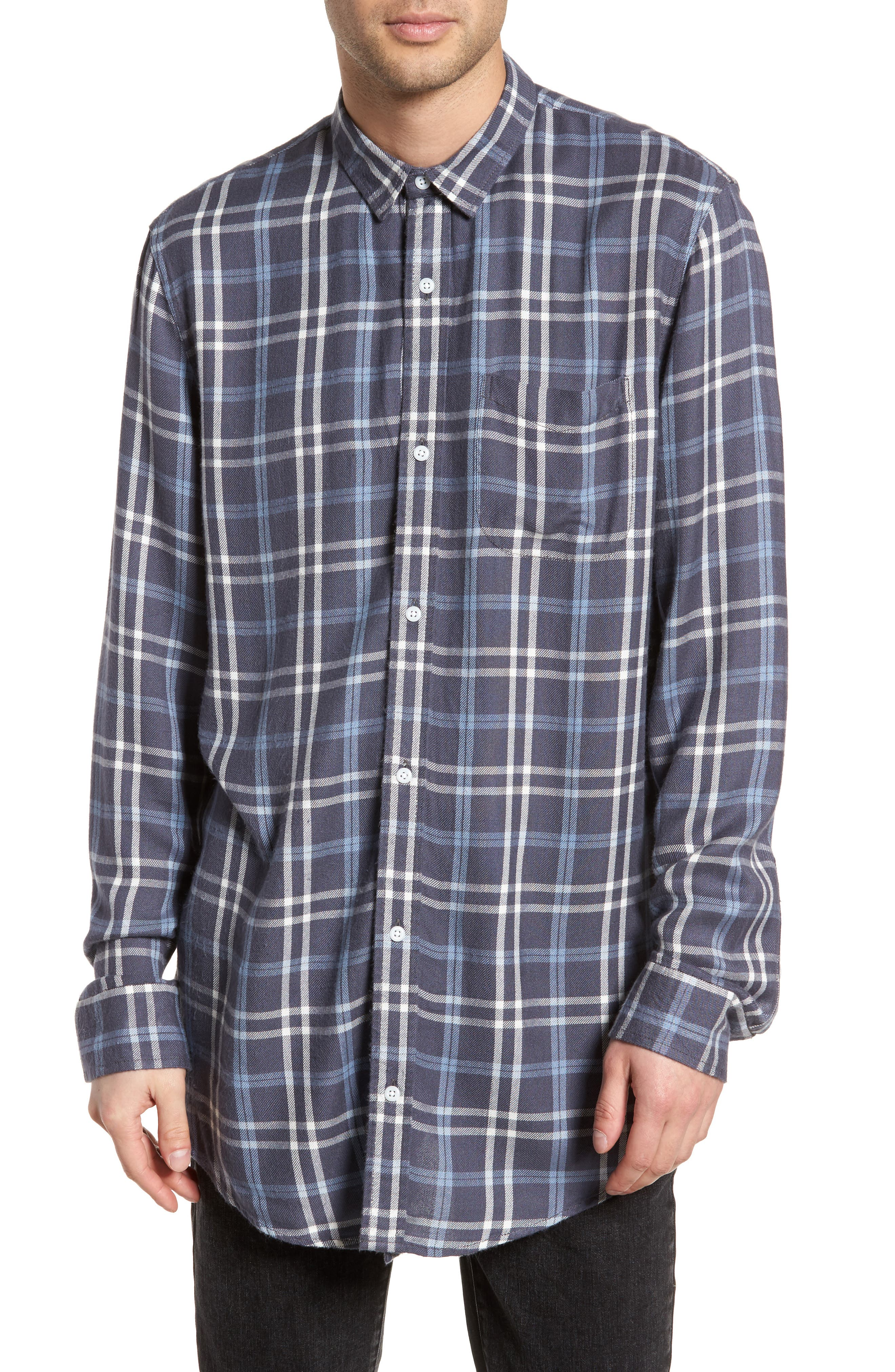 Yarn Dyed Plaid Shirt,                             Main thumbnail 1, color,                             Blue Grisaille Plaid