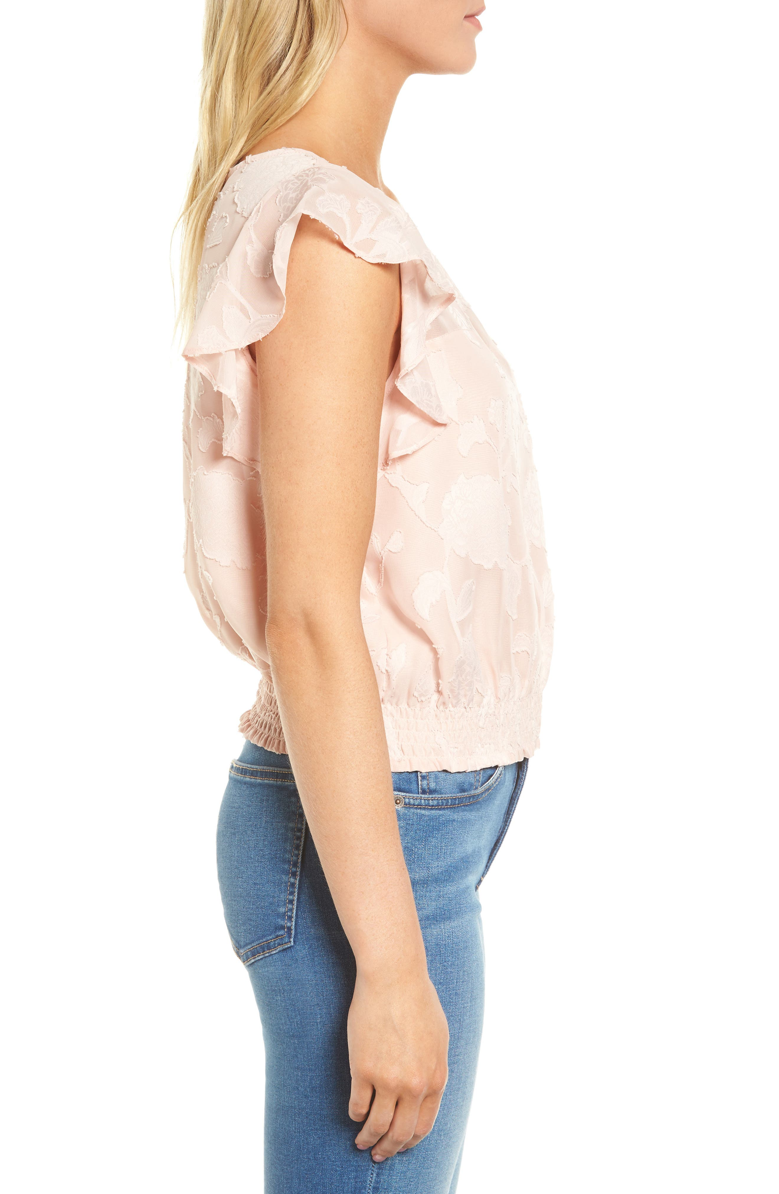 Alternate Image 3  - cupcakes and cashmere Banyan Floral Burnout Top
