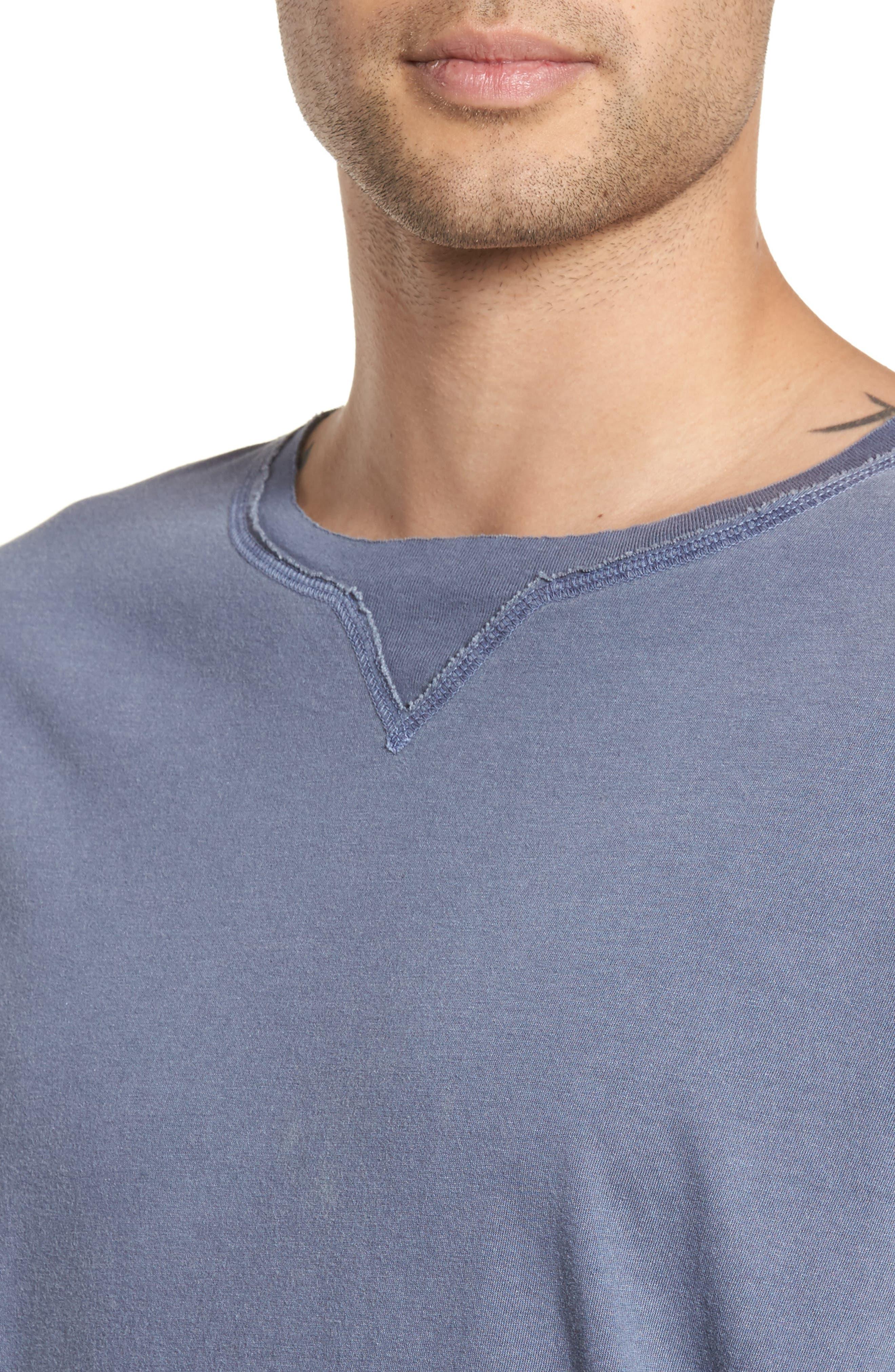 Raw Hem T-Shirt,                             Alternate thumbnail 4, color,                             Blue Indigo