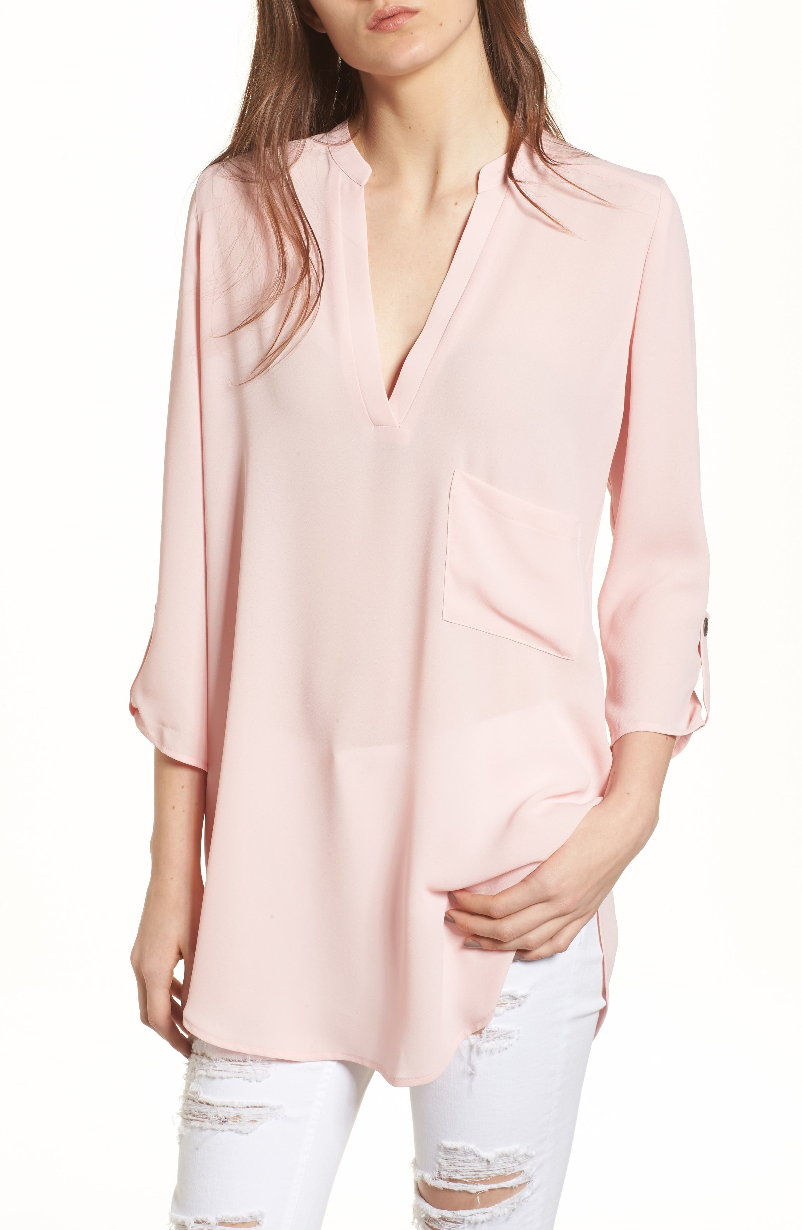 Alternate Image 1 Selected - Perfect Roll Tab Sleeve Tunic