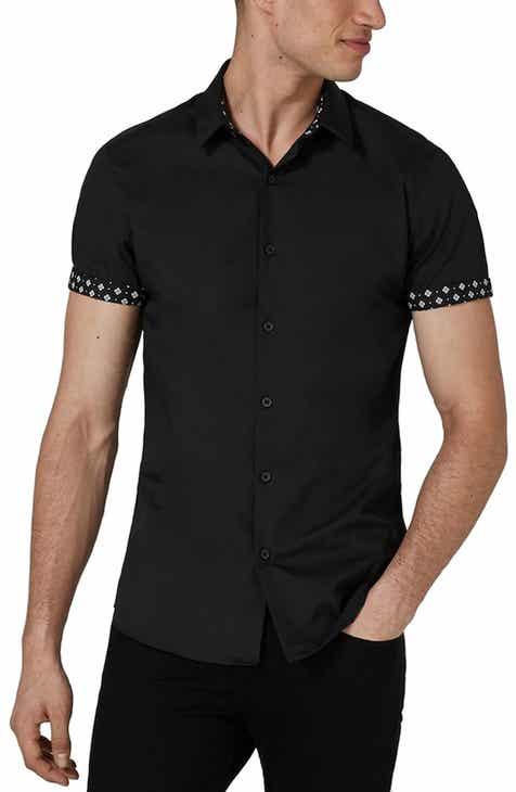 Topman Slim Fit Geo Print Shirt