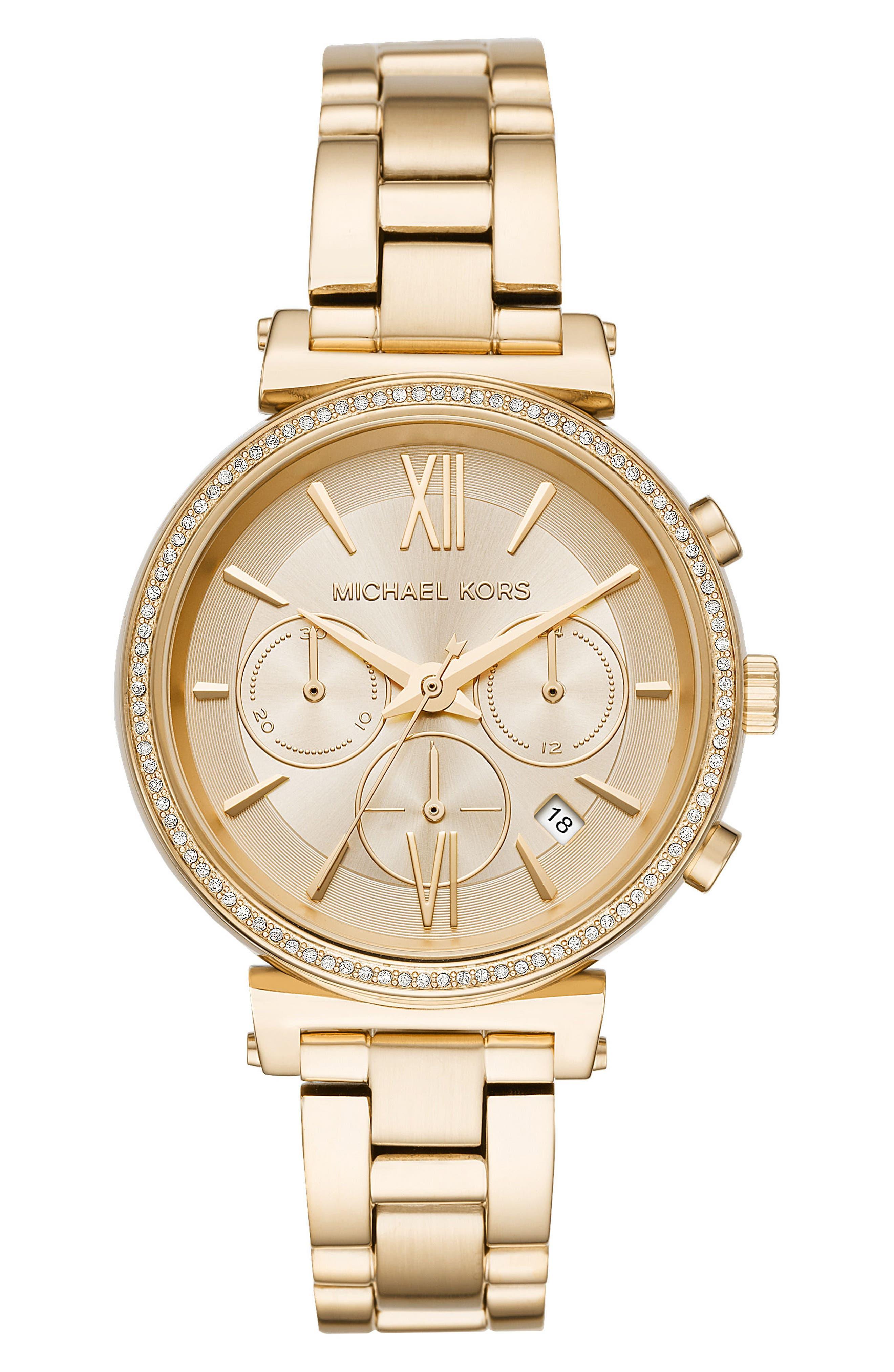 Main Image - Michael Kors Sofie Chronograph Bracelet Watch, 39mm