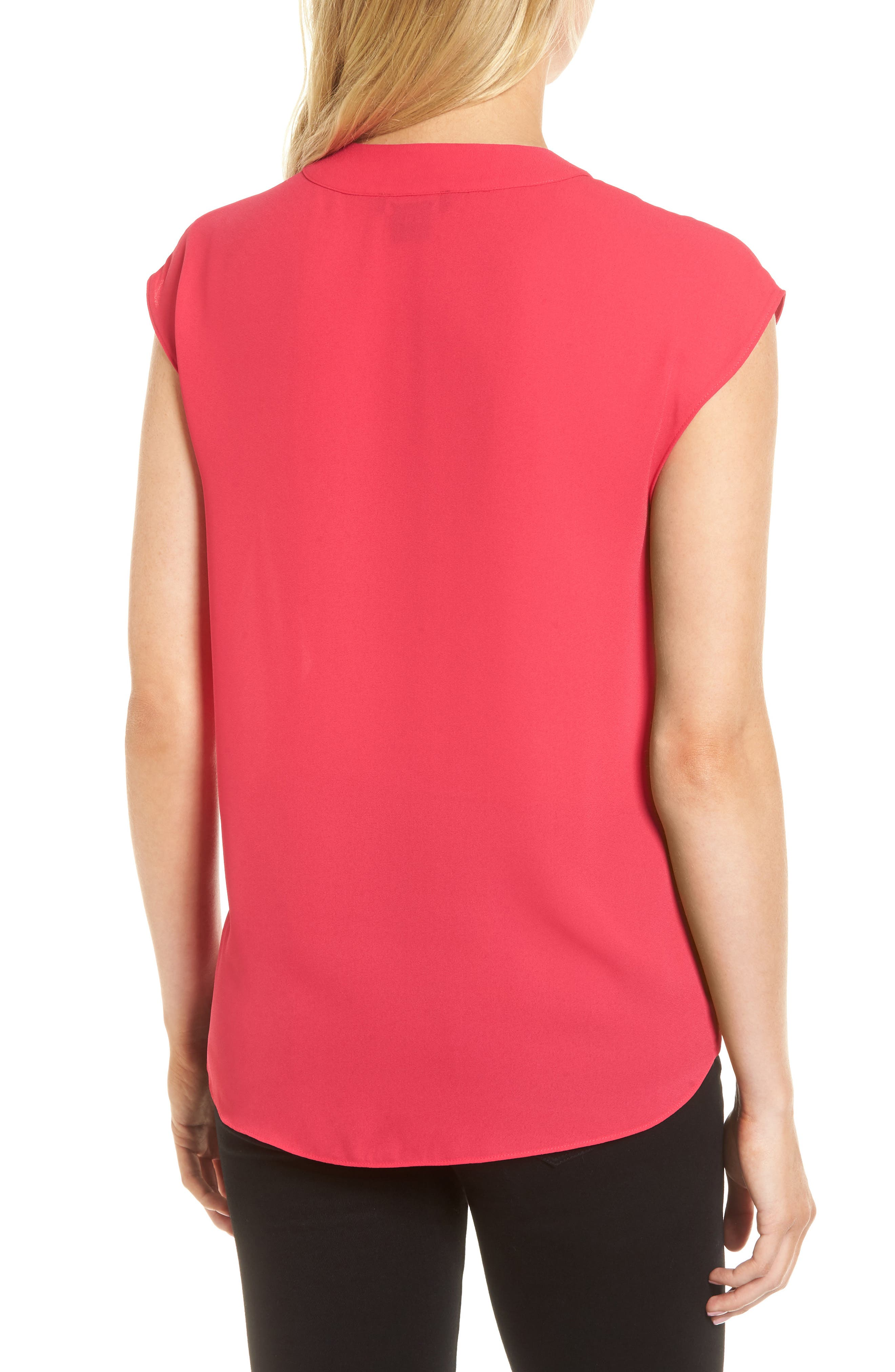 Wrap Top,                             Alternate thumbnail 2, color,                             Pink Bright