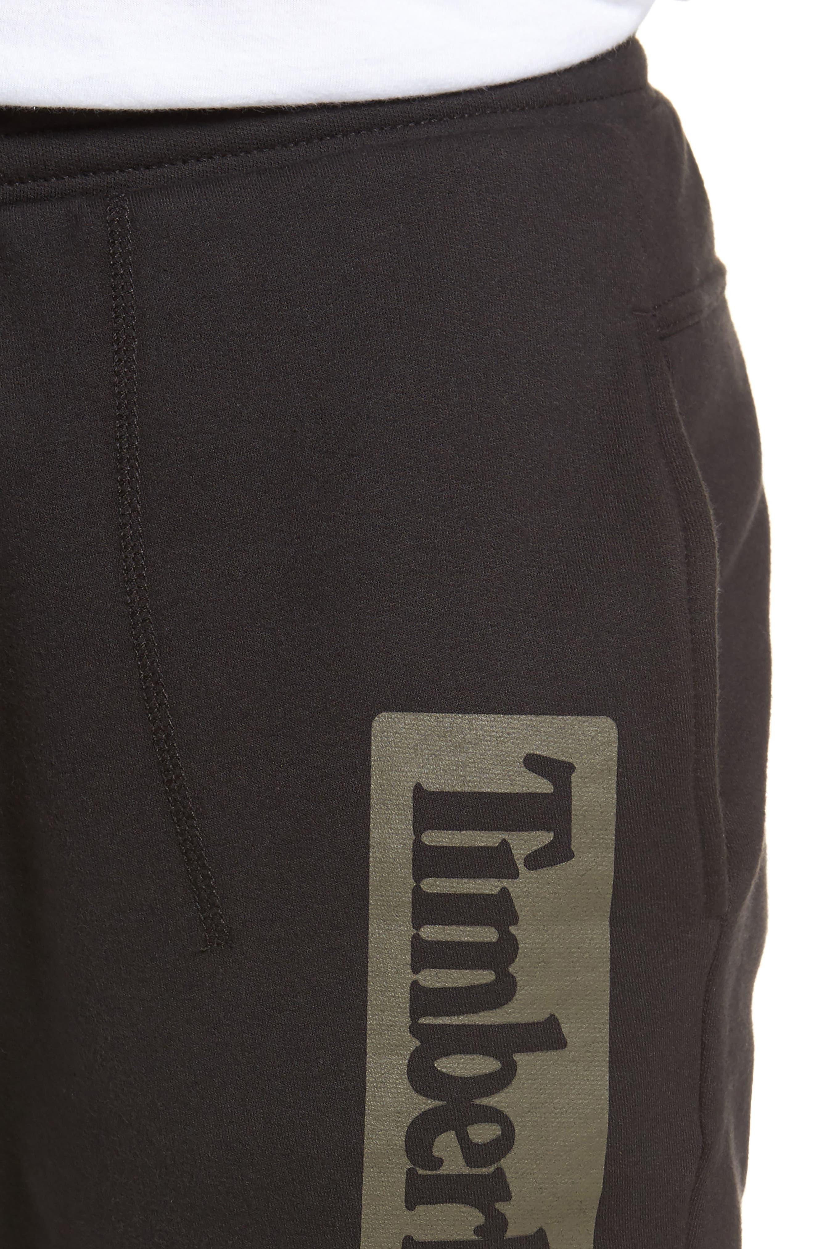 Logo Jogger Pants,                             Alternate thumbnail 4, color,                             Black