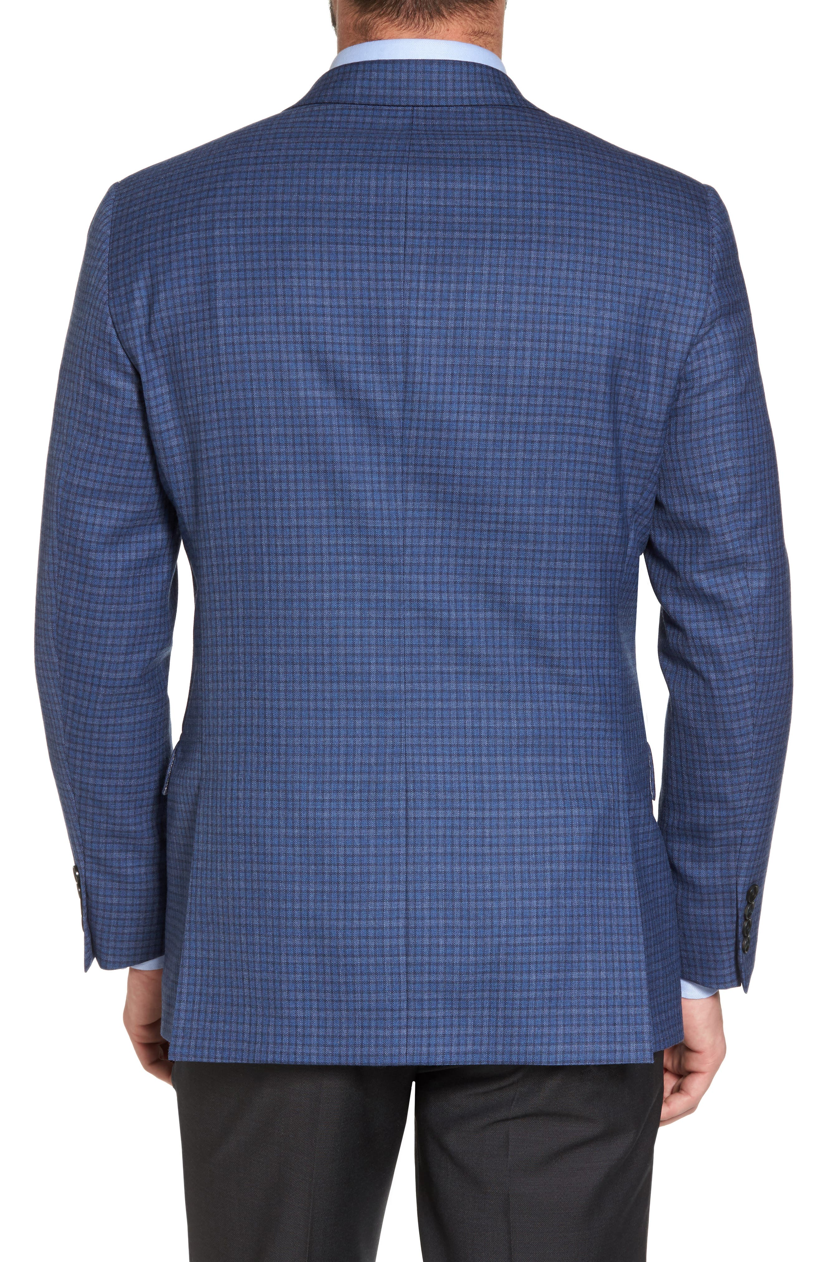 Classic Fit Check Wool Sport Coat,                             Alternate thumbnail 2, color,                             Mid Blue