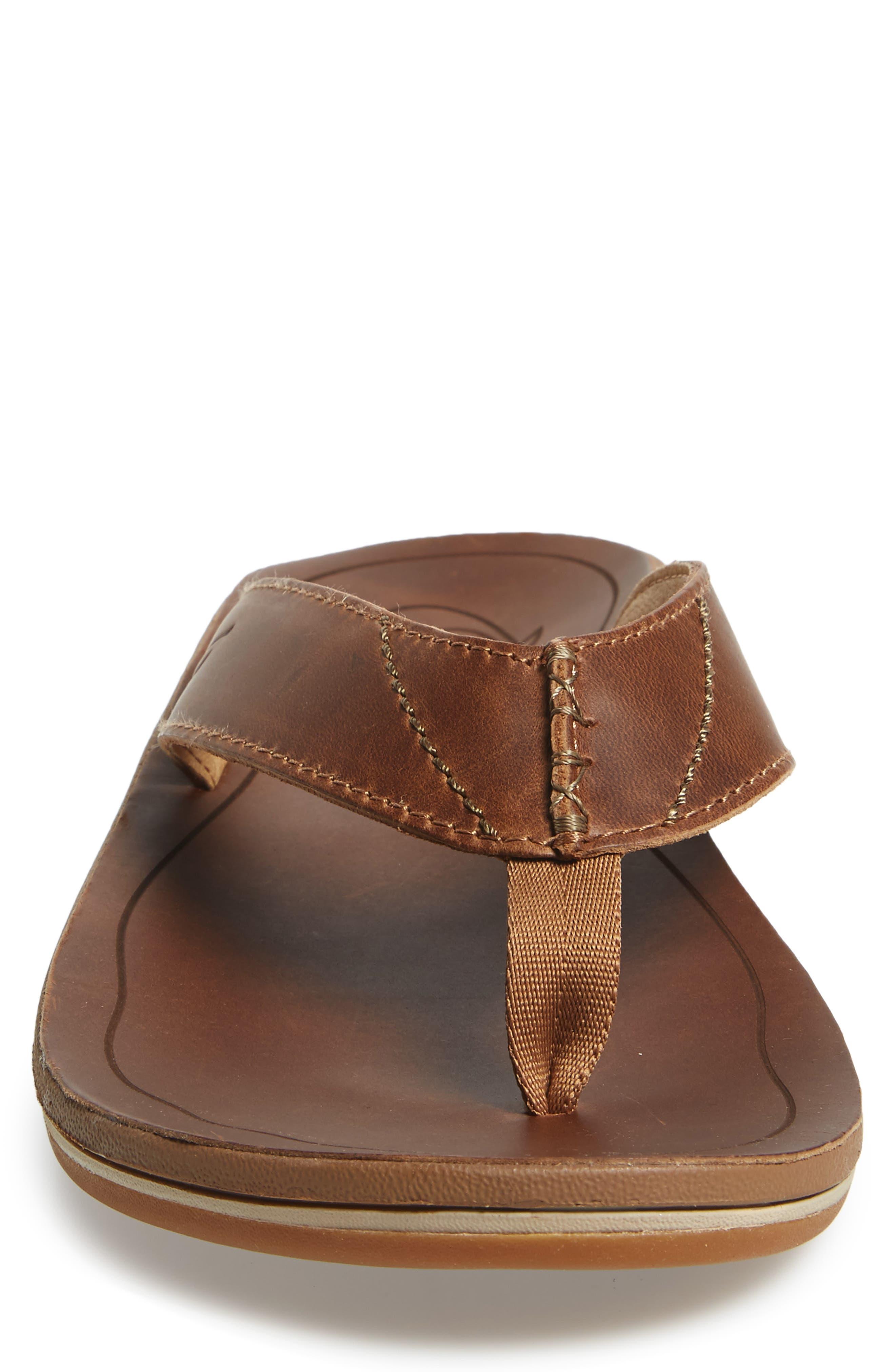 9781cd7888e2 Olukai Nohona Ili Flip Flop In Tan  Tan Leather
